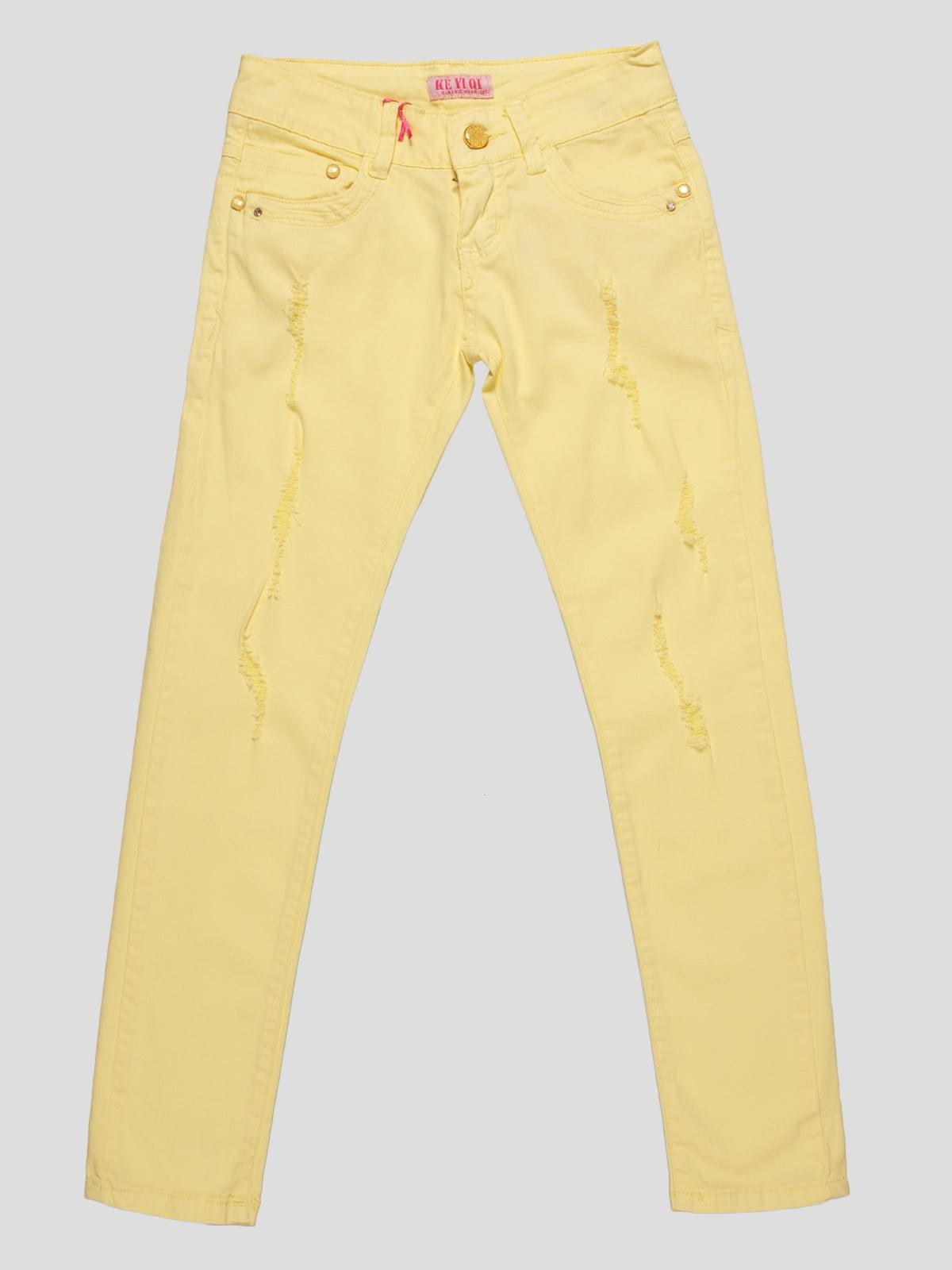 Брюки желтые | 4890769