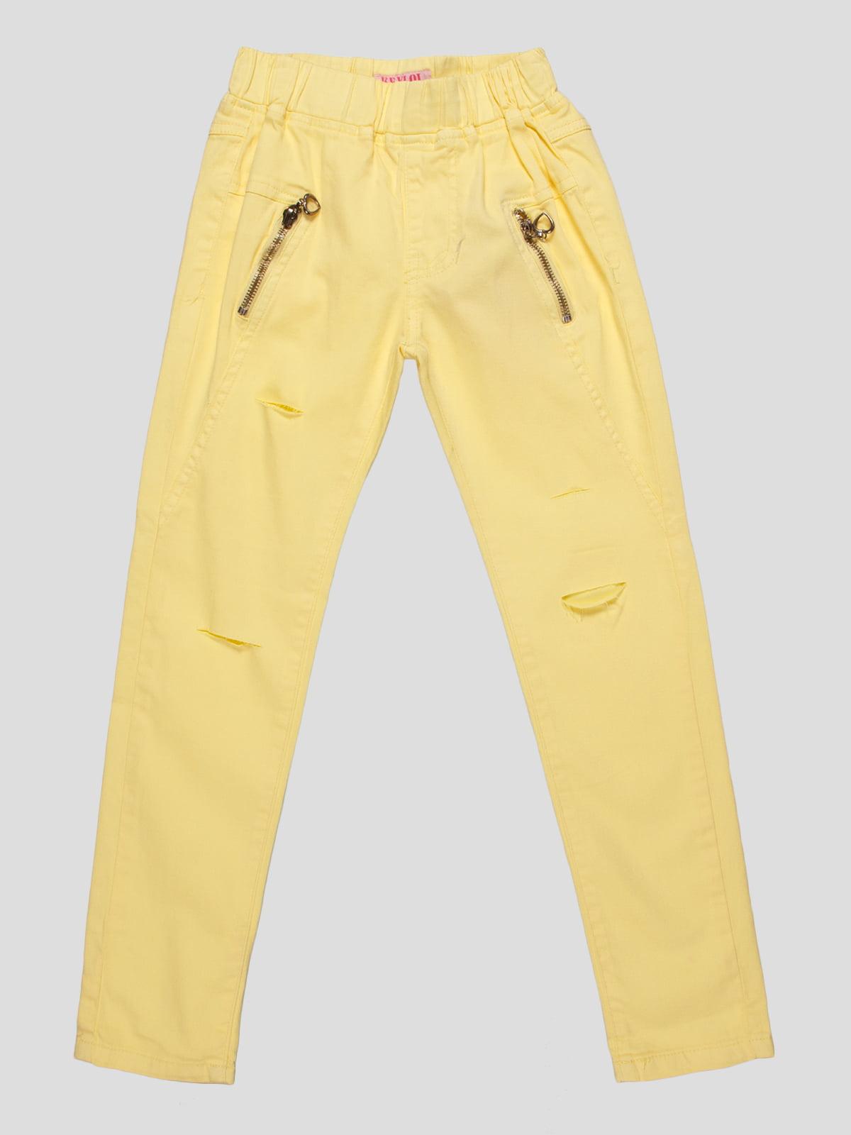 Брюки желтые   4890764