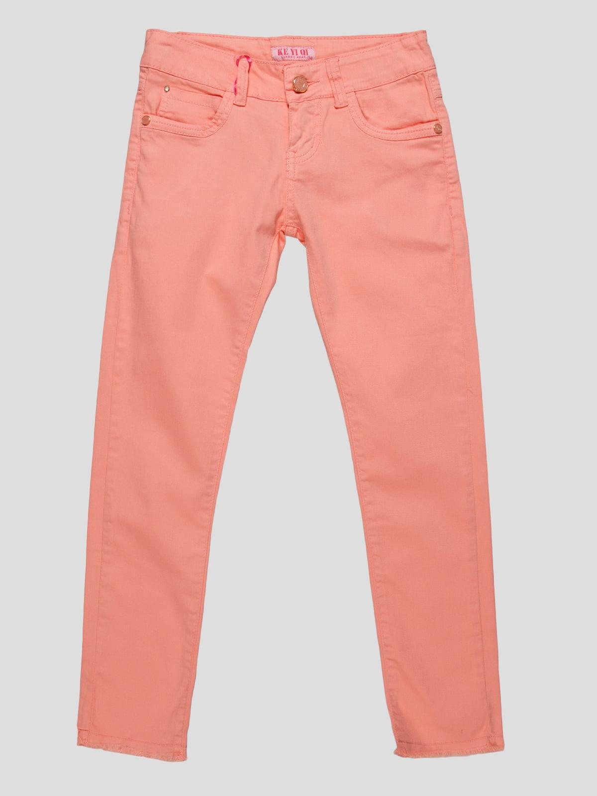 Штани персикового кольору | 4890773