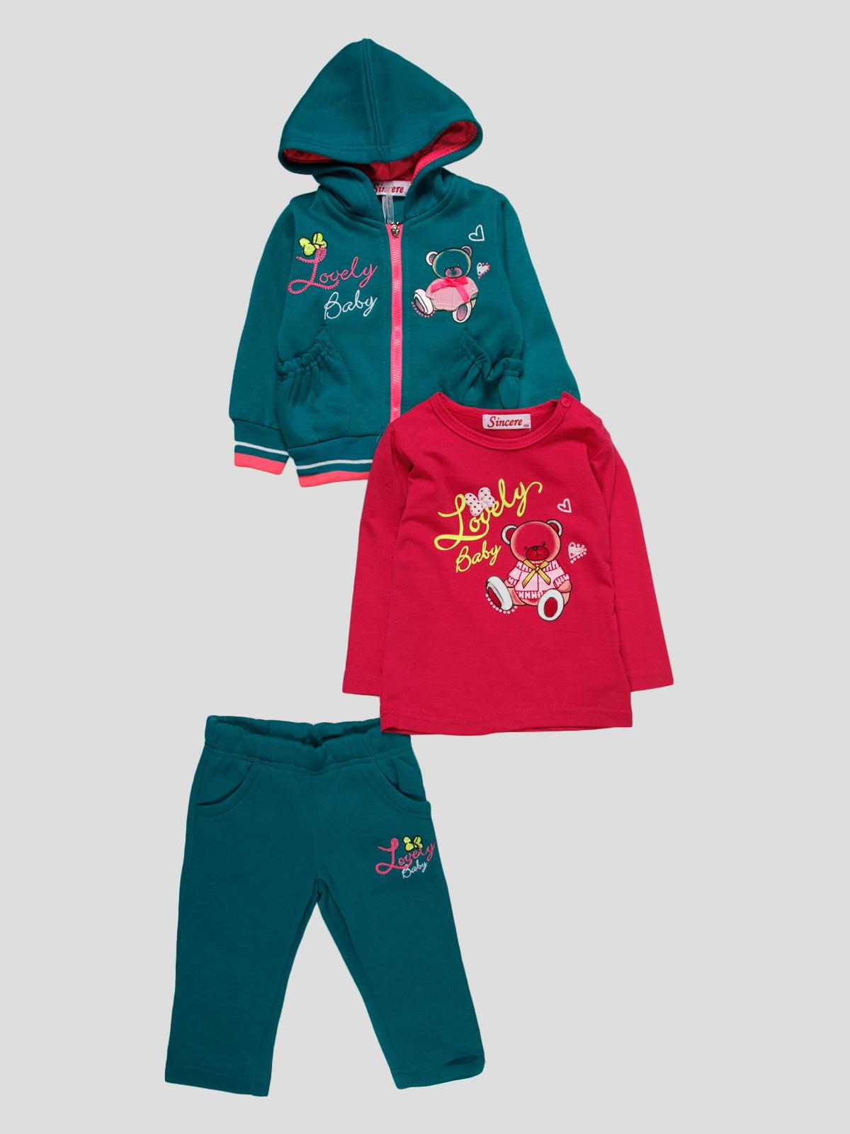 Комплект: толстовка, джемпер і штани   4890822