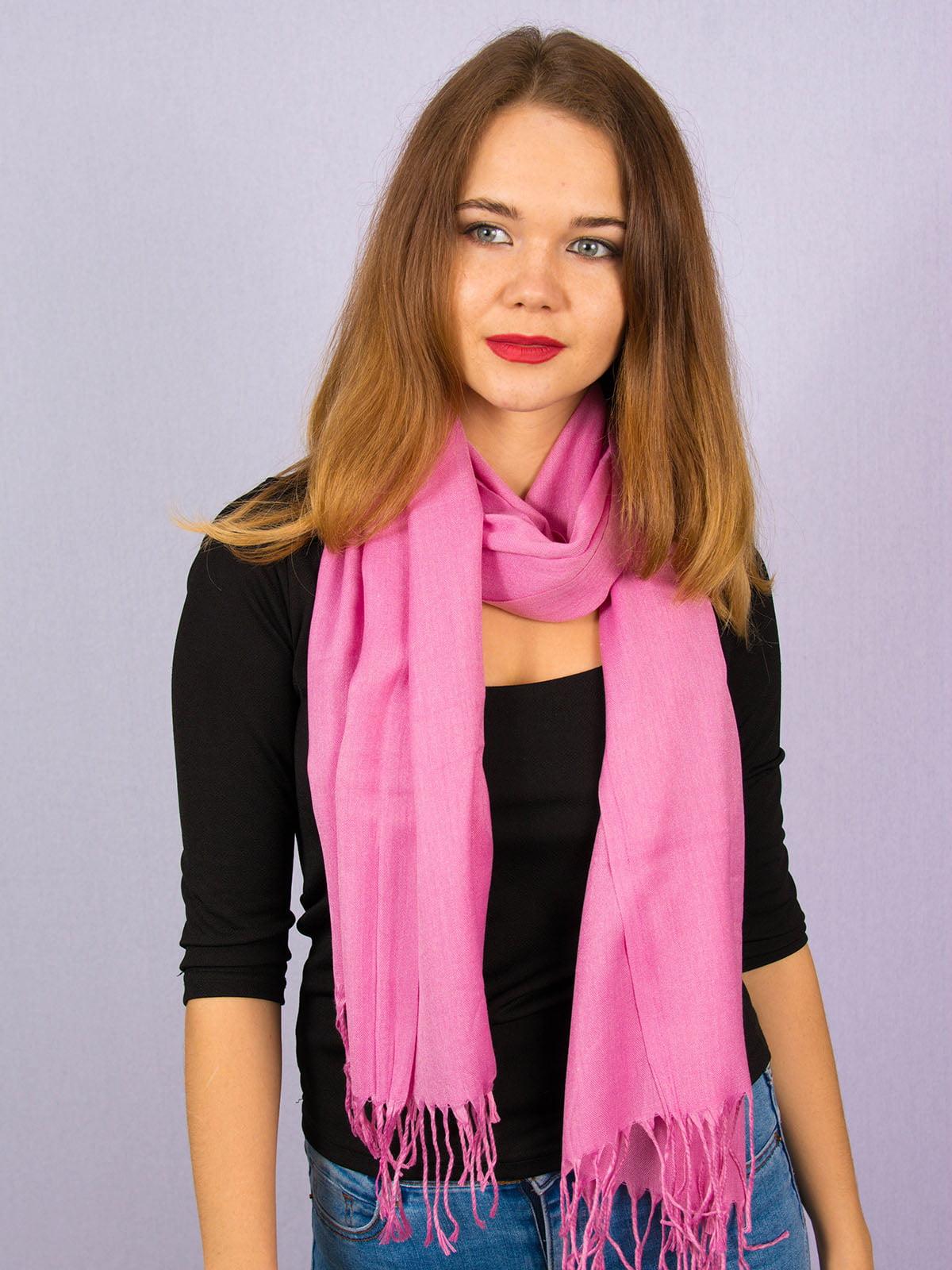Палантин розовый | 4894235