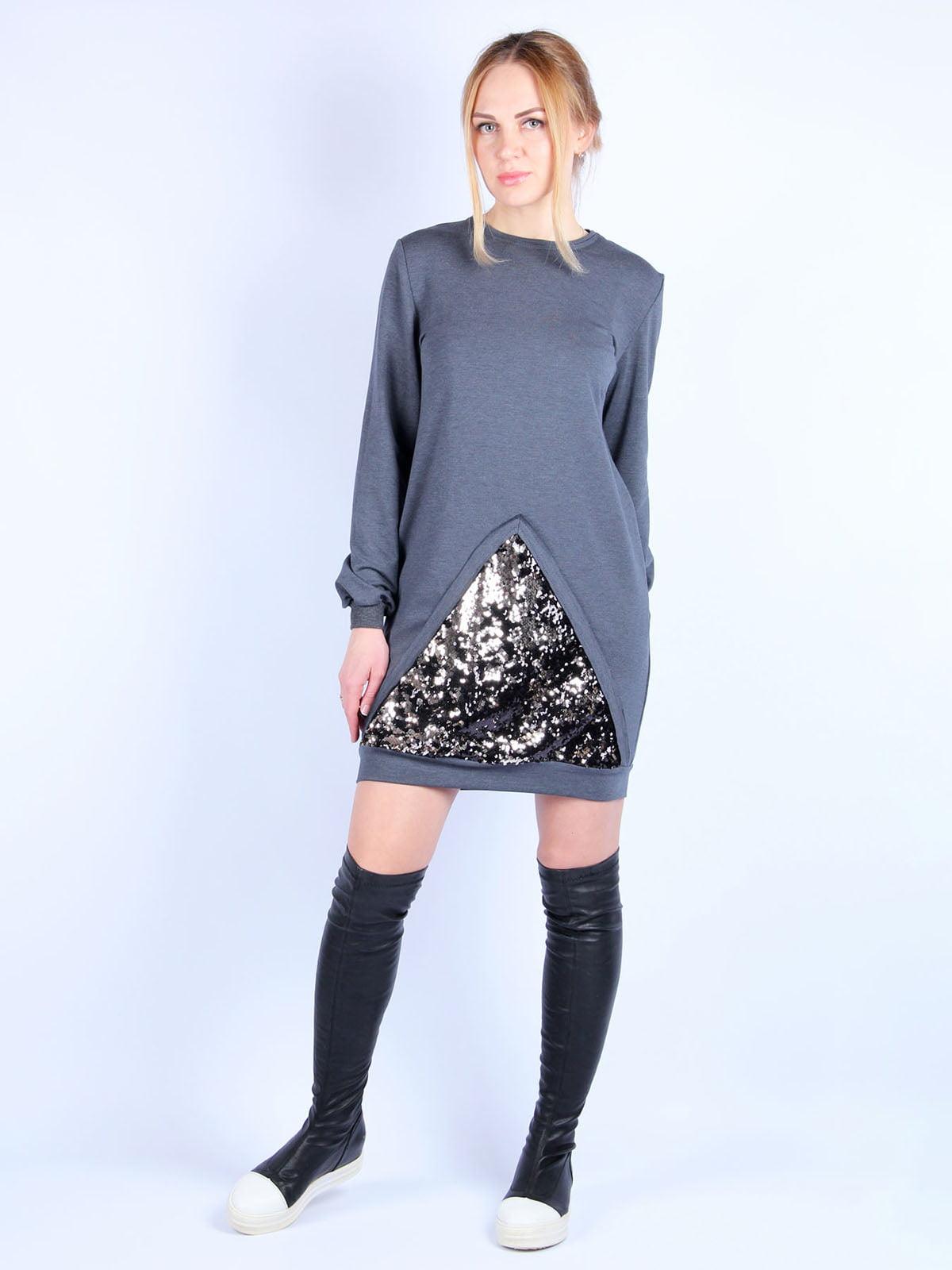 Сукня темно-сіра | 4894045