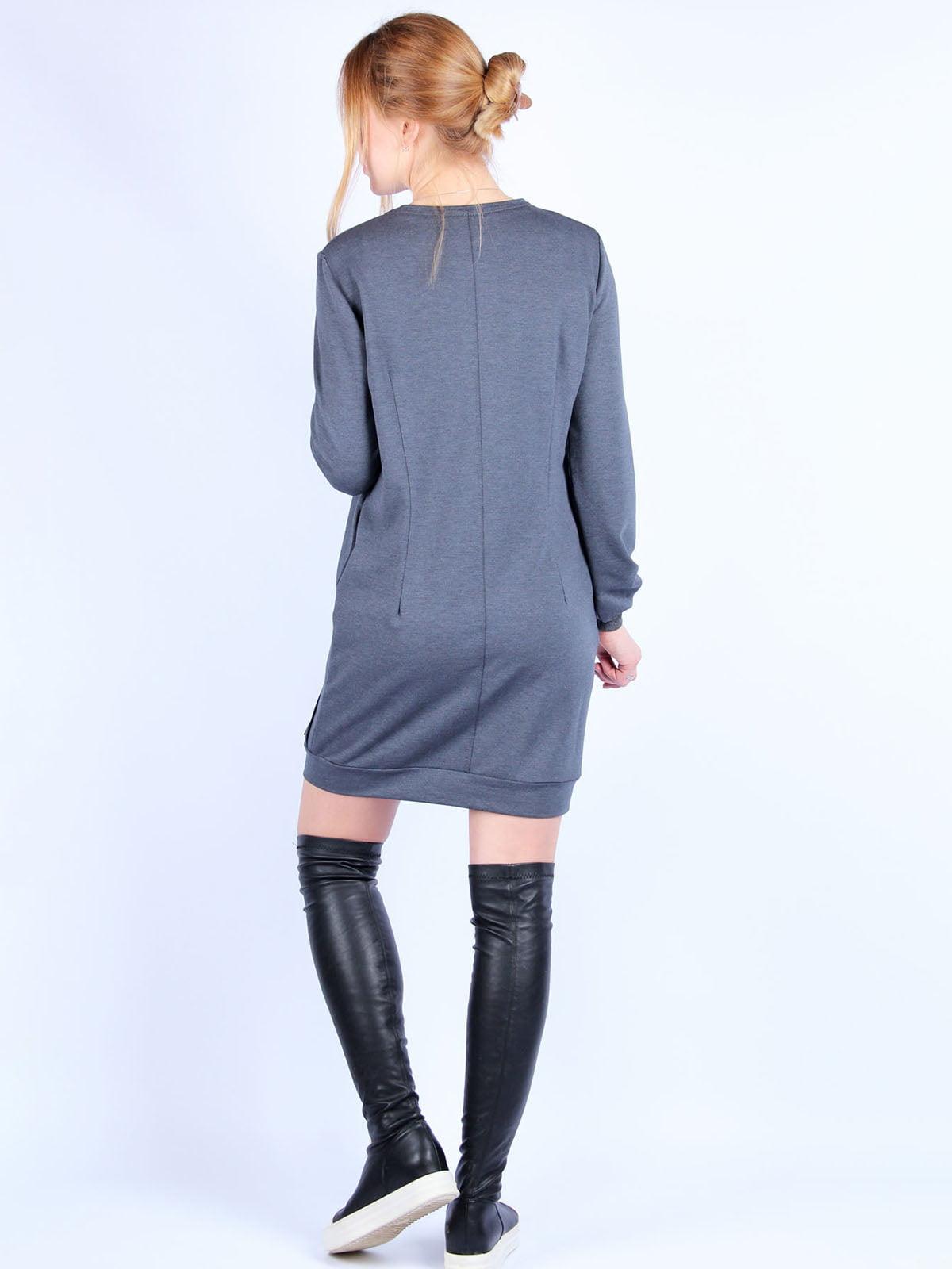 Сукня темно-сіра | 4894045 | фото 2