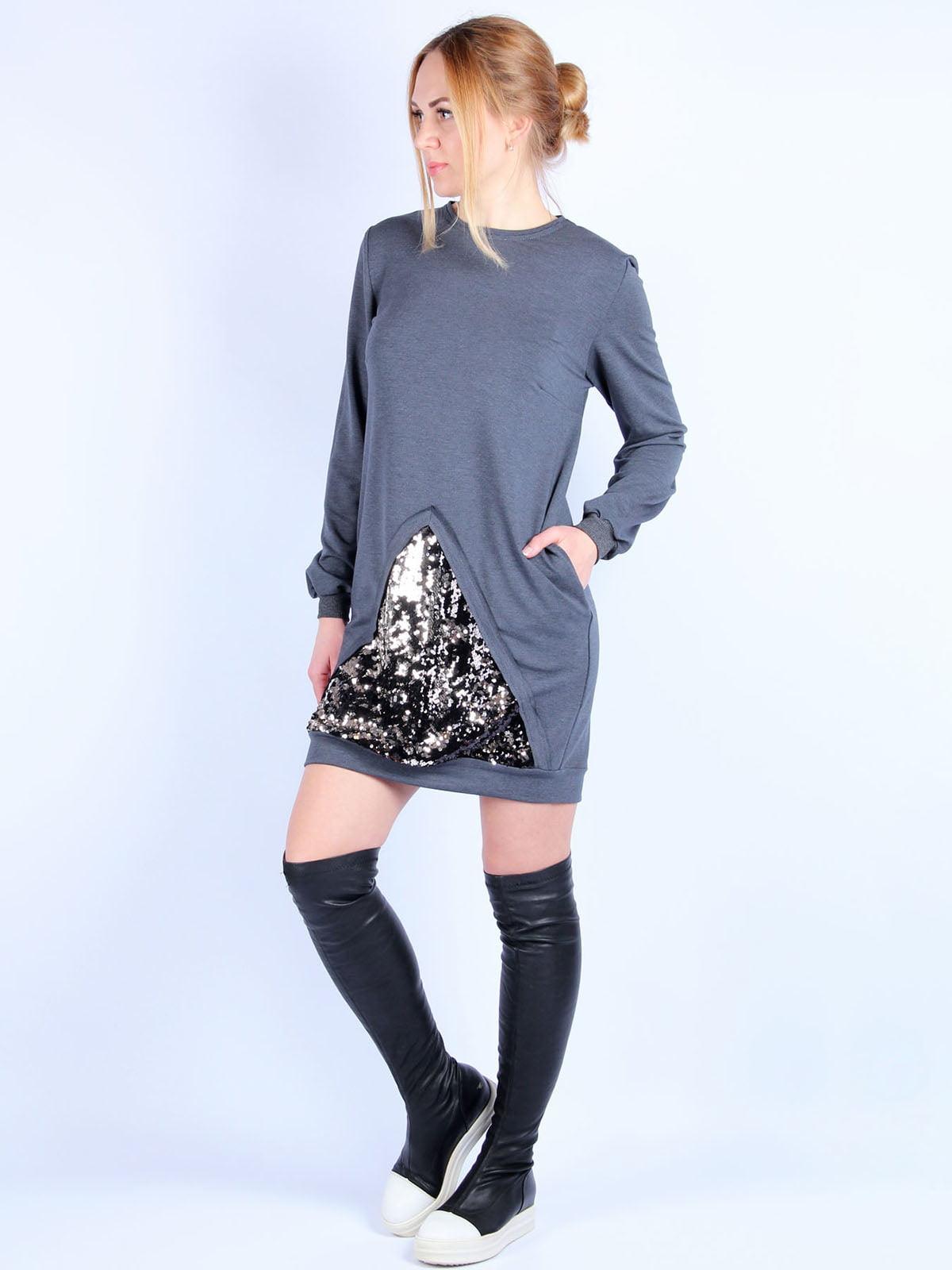Сукня темно-сіра | 4894045 | фото 4