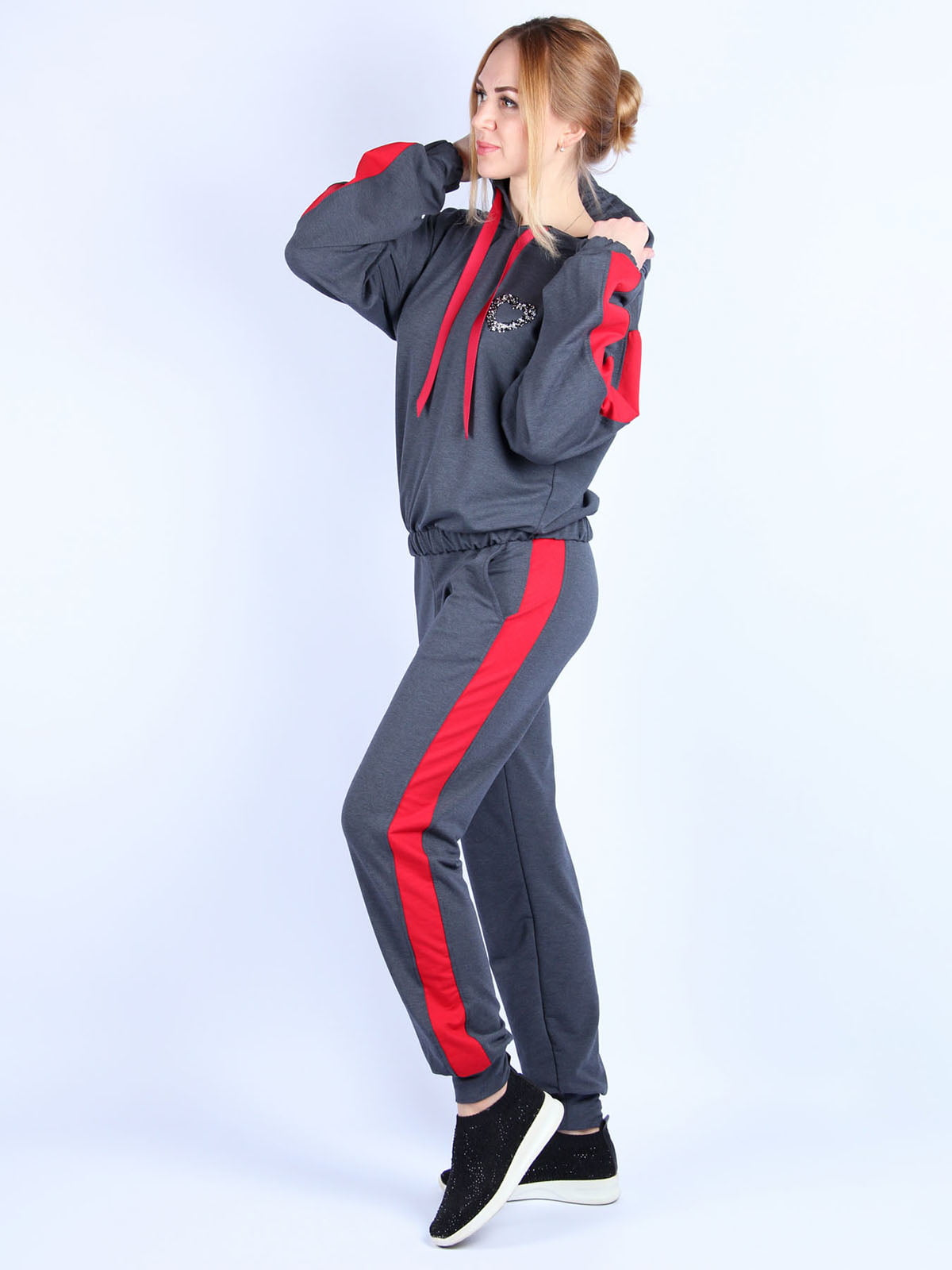 Костюм: худи и брюки   4894050   фото 3