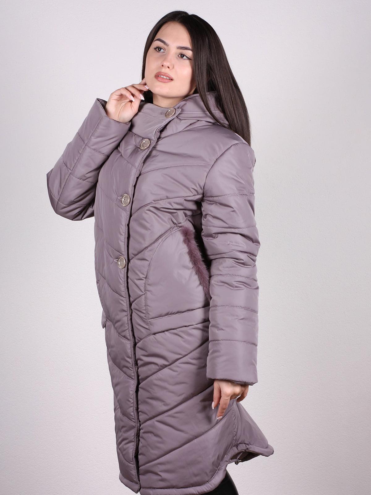Пальто бежево-сиреневого цвета   4897392   фото 2