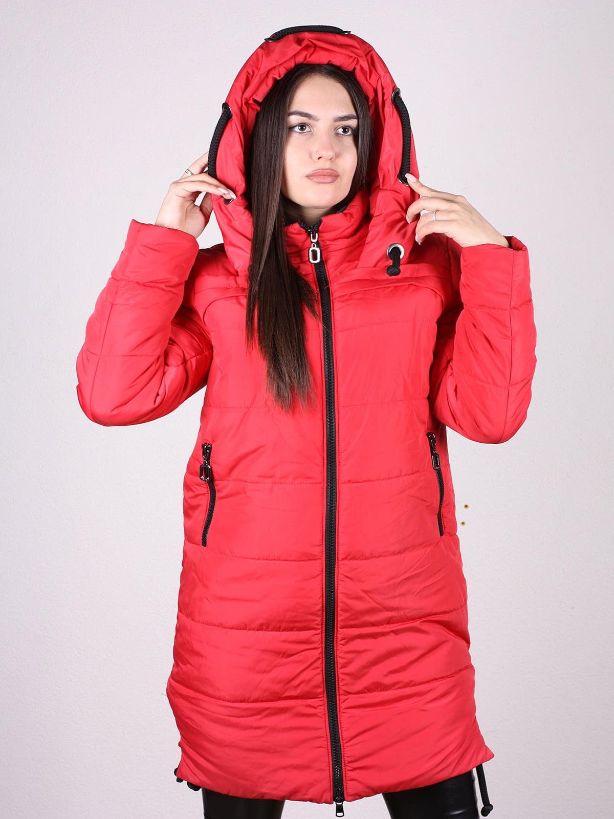 Пальто красное   4897400   фото 4