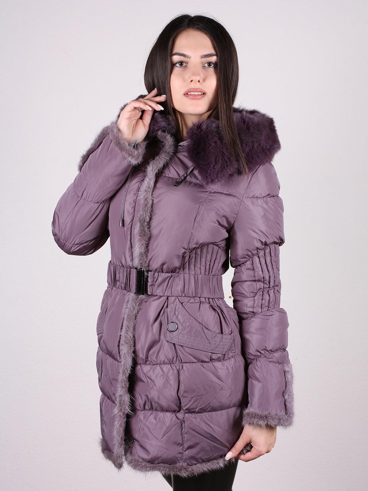 Пальто фиолетовое | 4897402 | фото 2