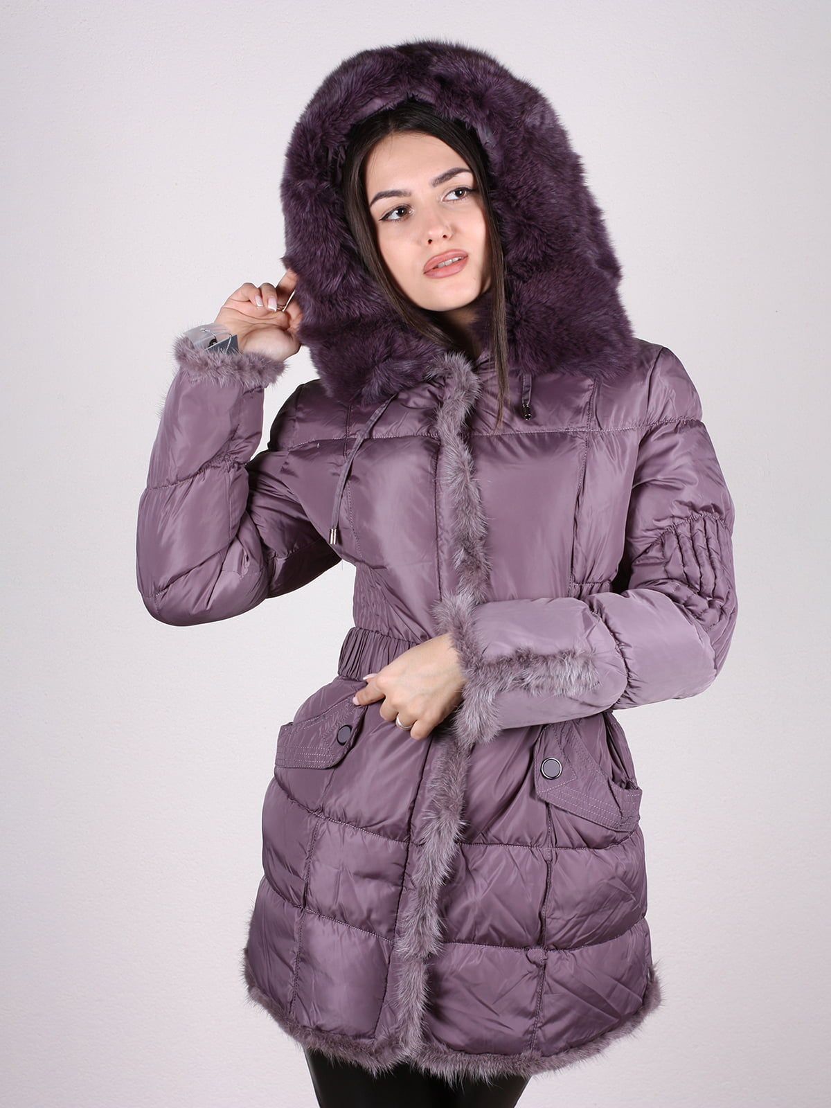 Пальто фиолетовое | 4897402 | фото 4