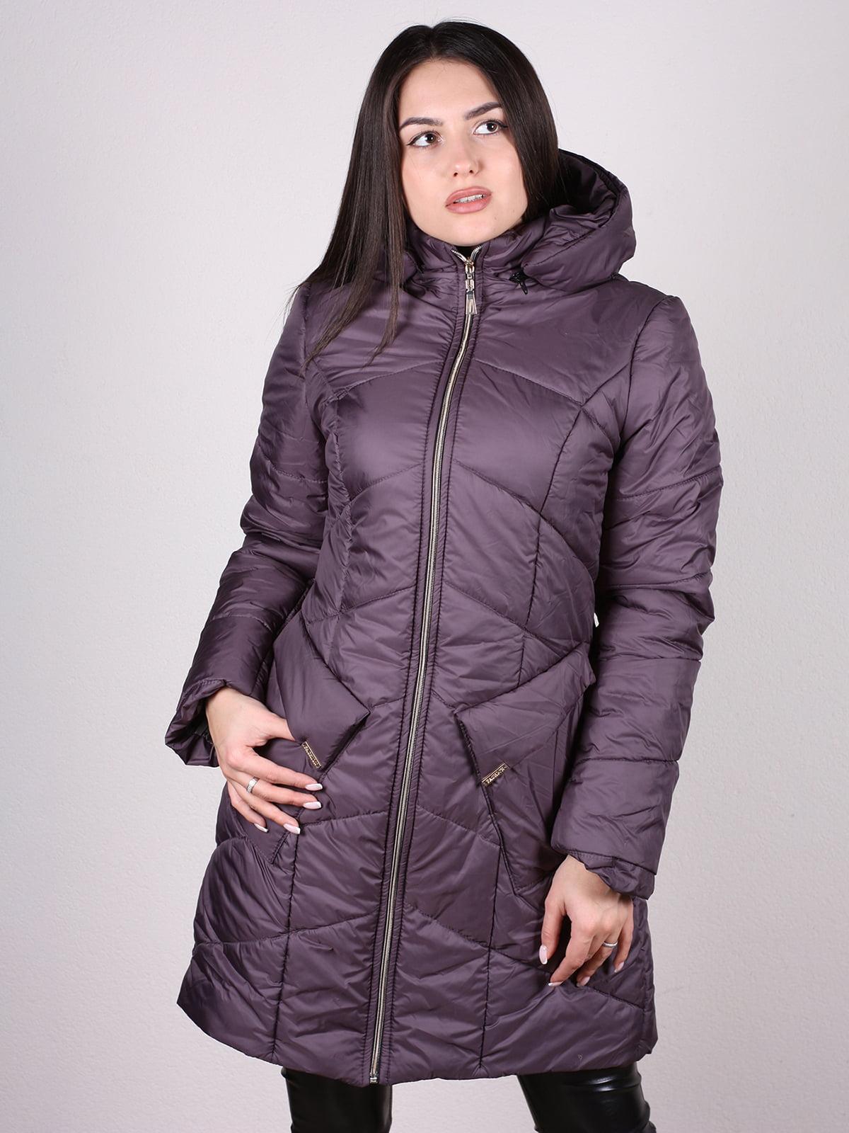 Пальто темно-сиреневое | 4897410