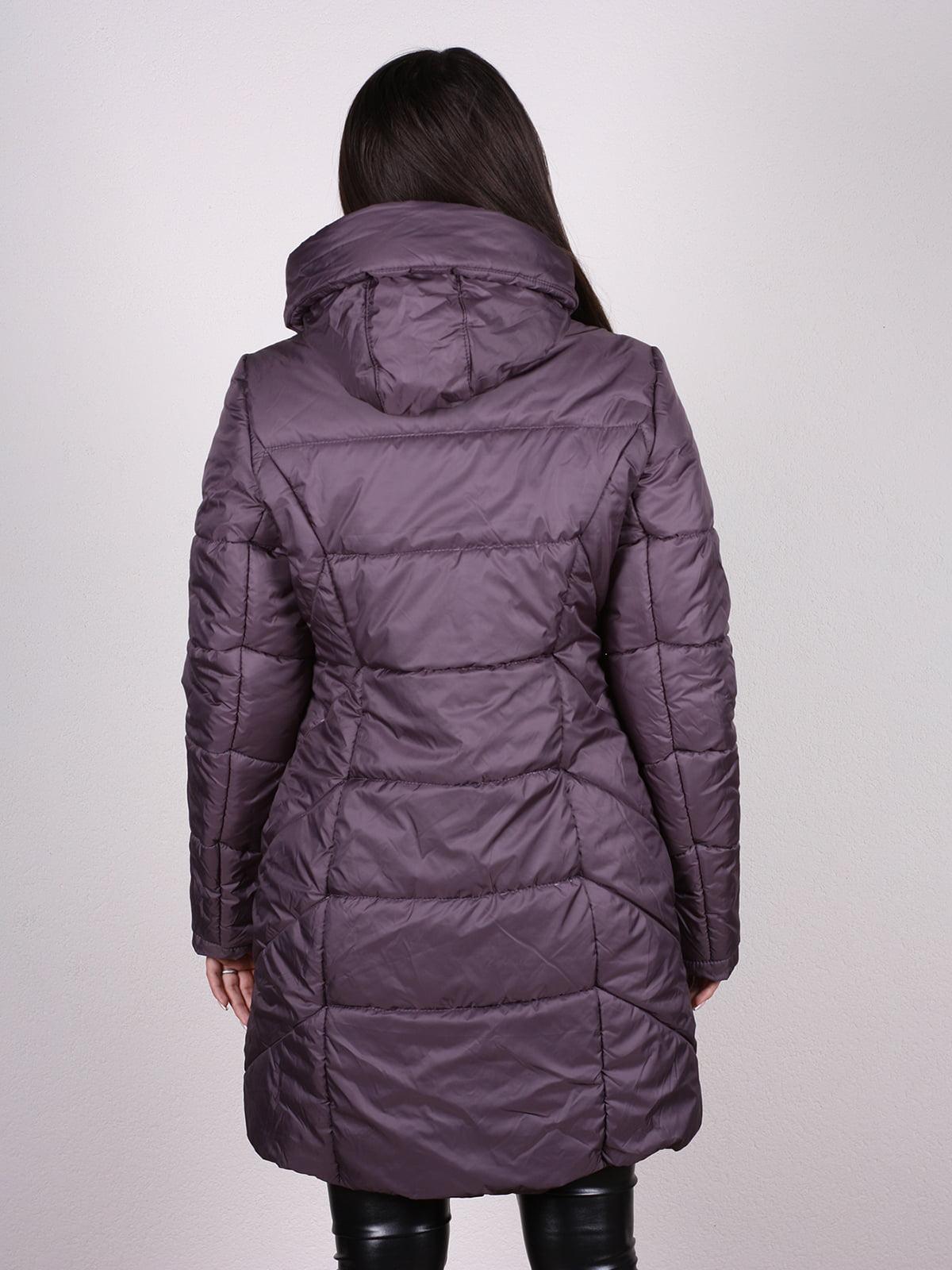 Пальто темно-сиреневое | 4897410 | фото 3