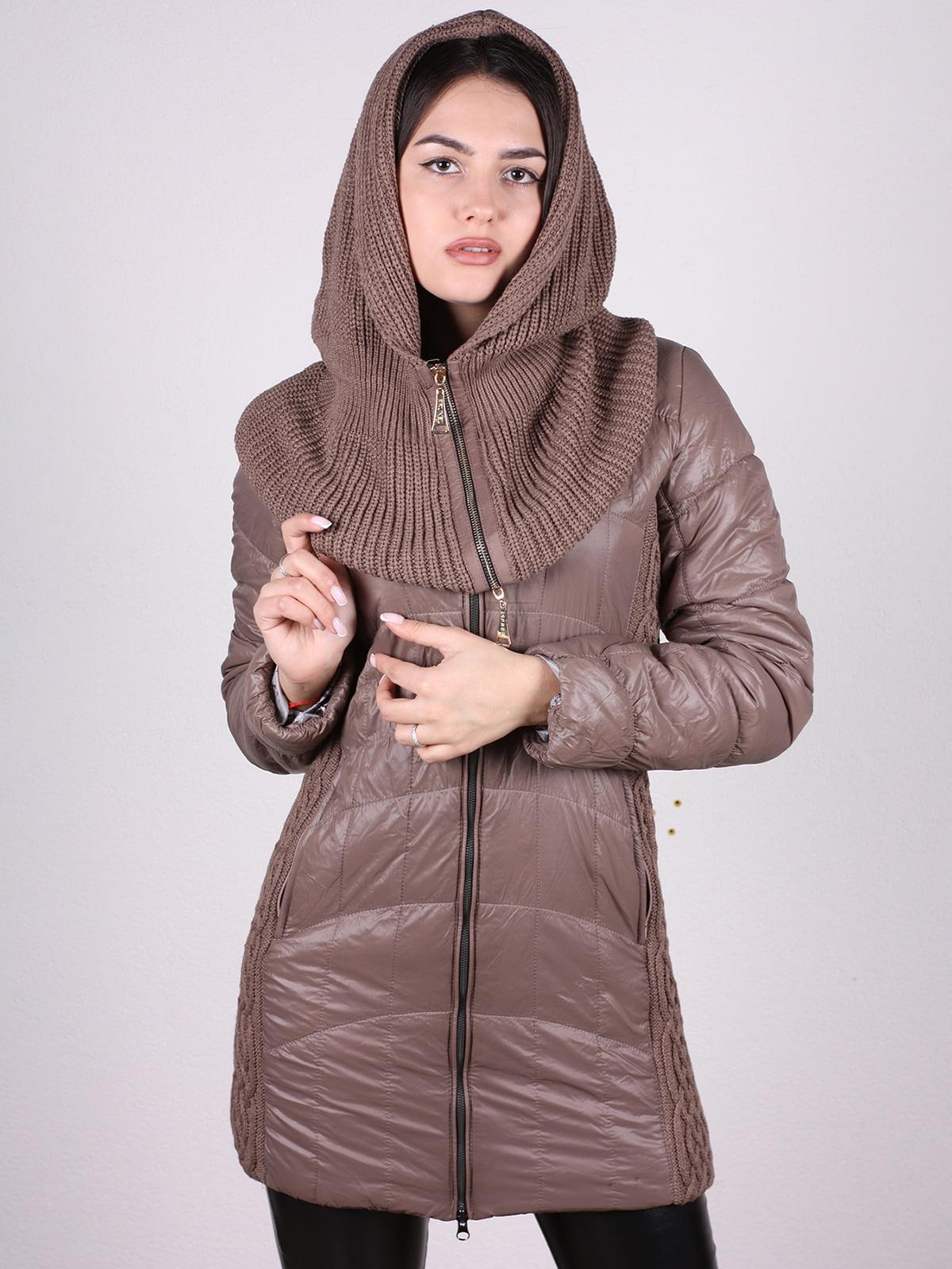 Куртка кофейного цвета | 4897413 | фото 4