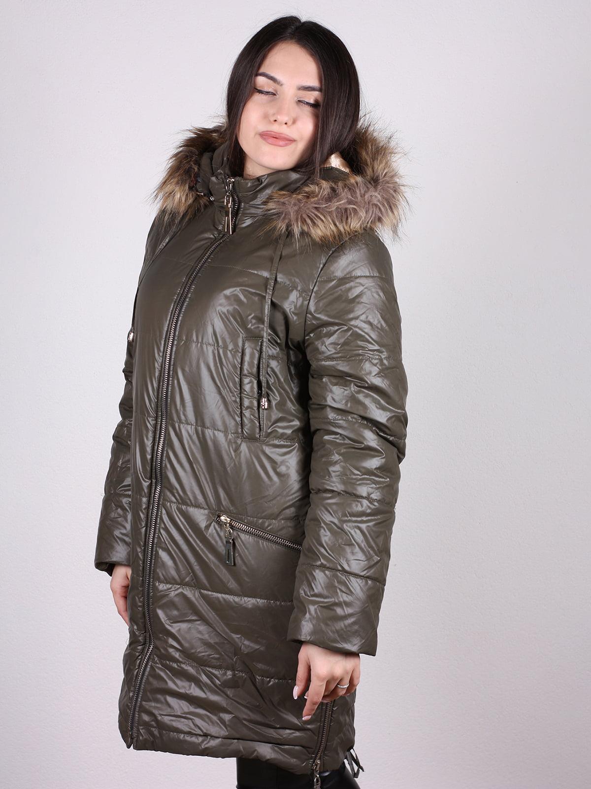 Пальто оливкового цвета   4897431   фото 2