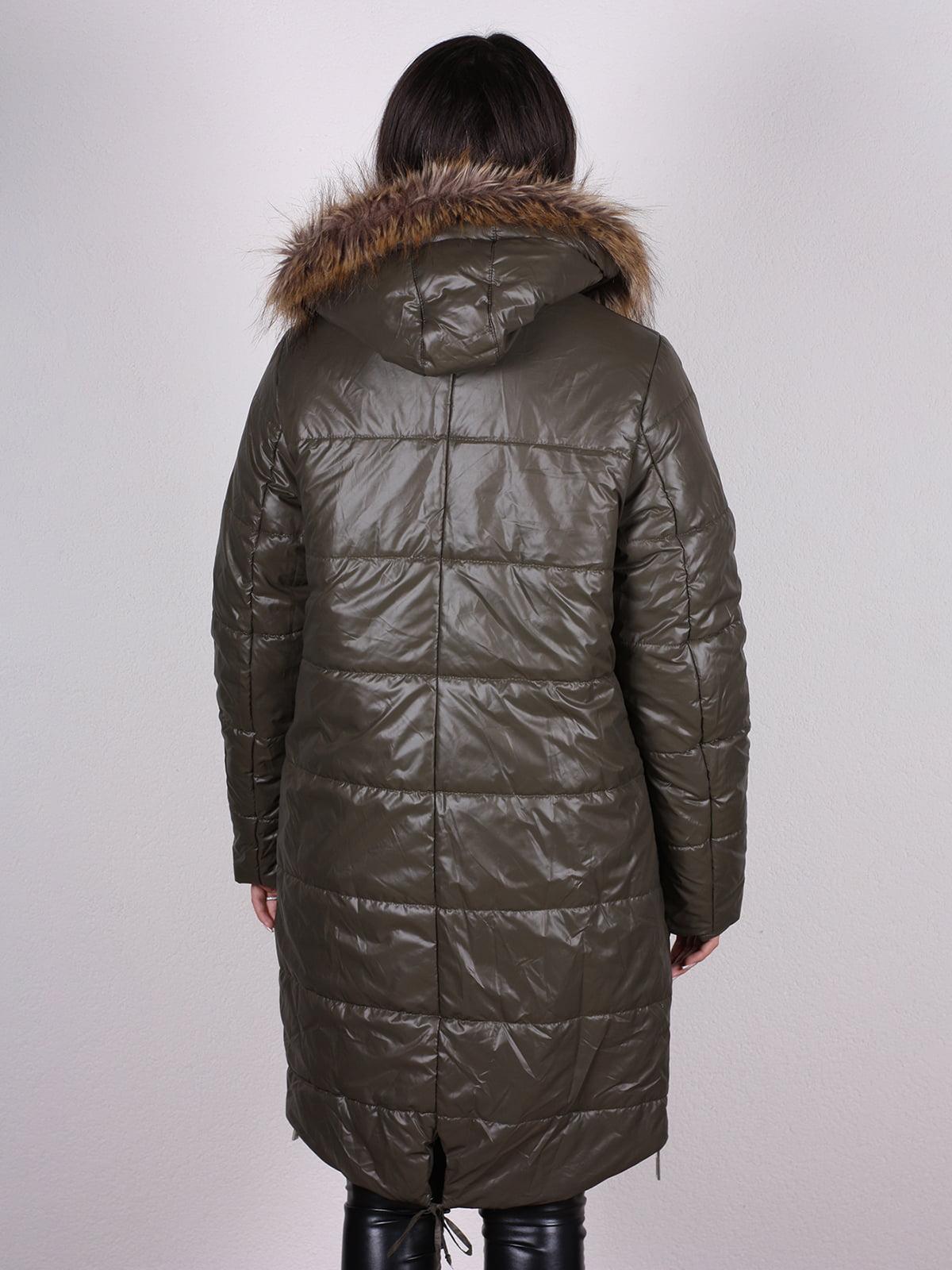 Пальто оливкового цвета   4897431   фото 3