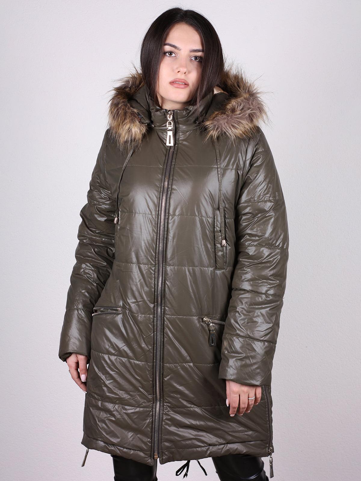 Пальто оливкового цвета   4897431   фото 4