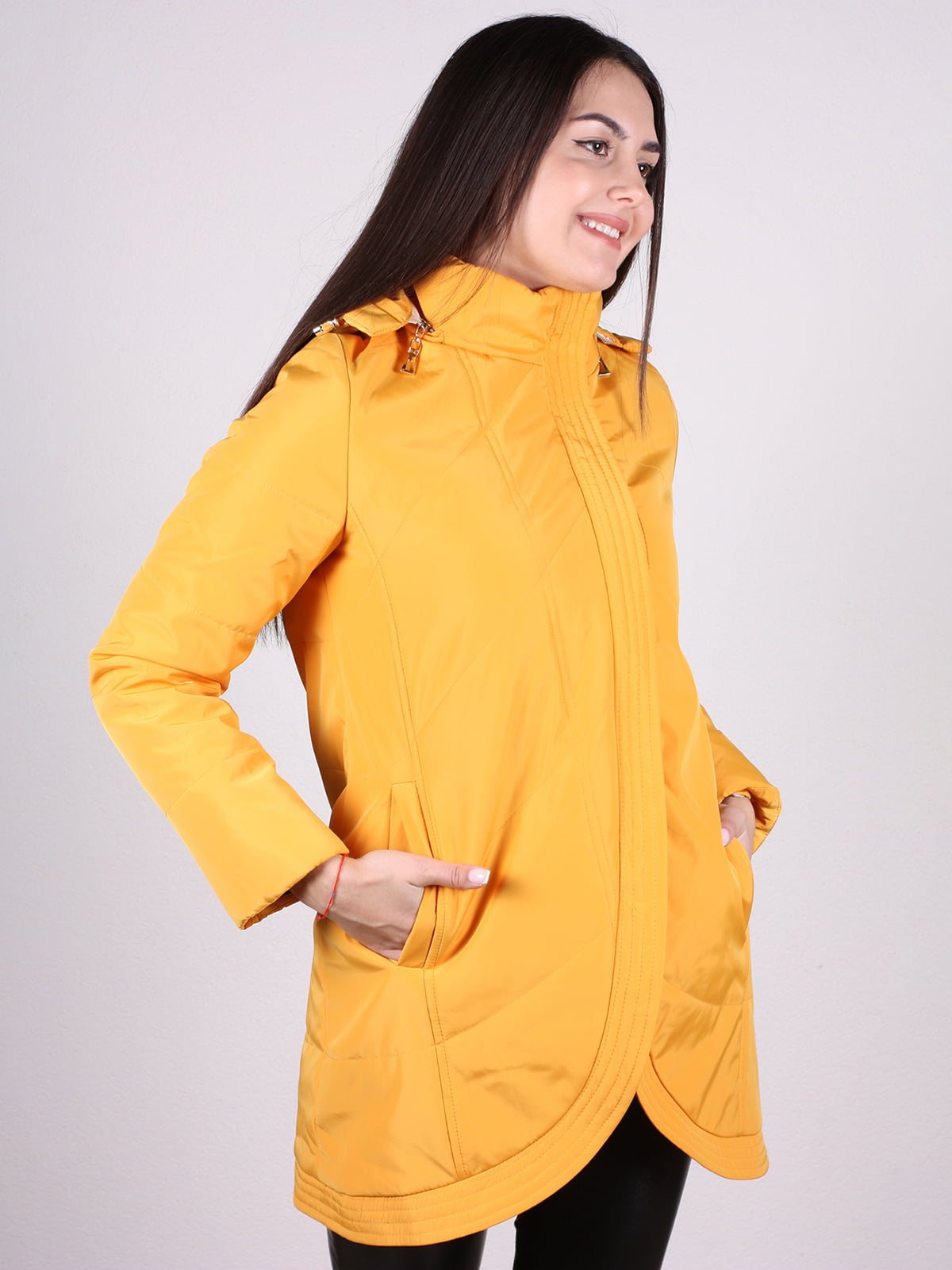 Пальто желтое | 4897433 | фото 2