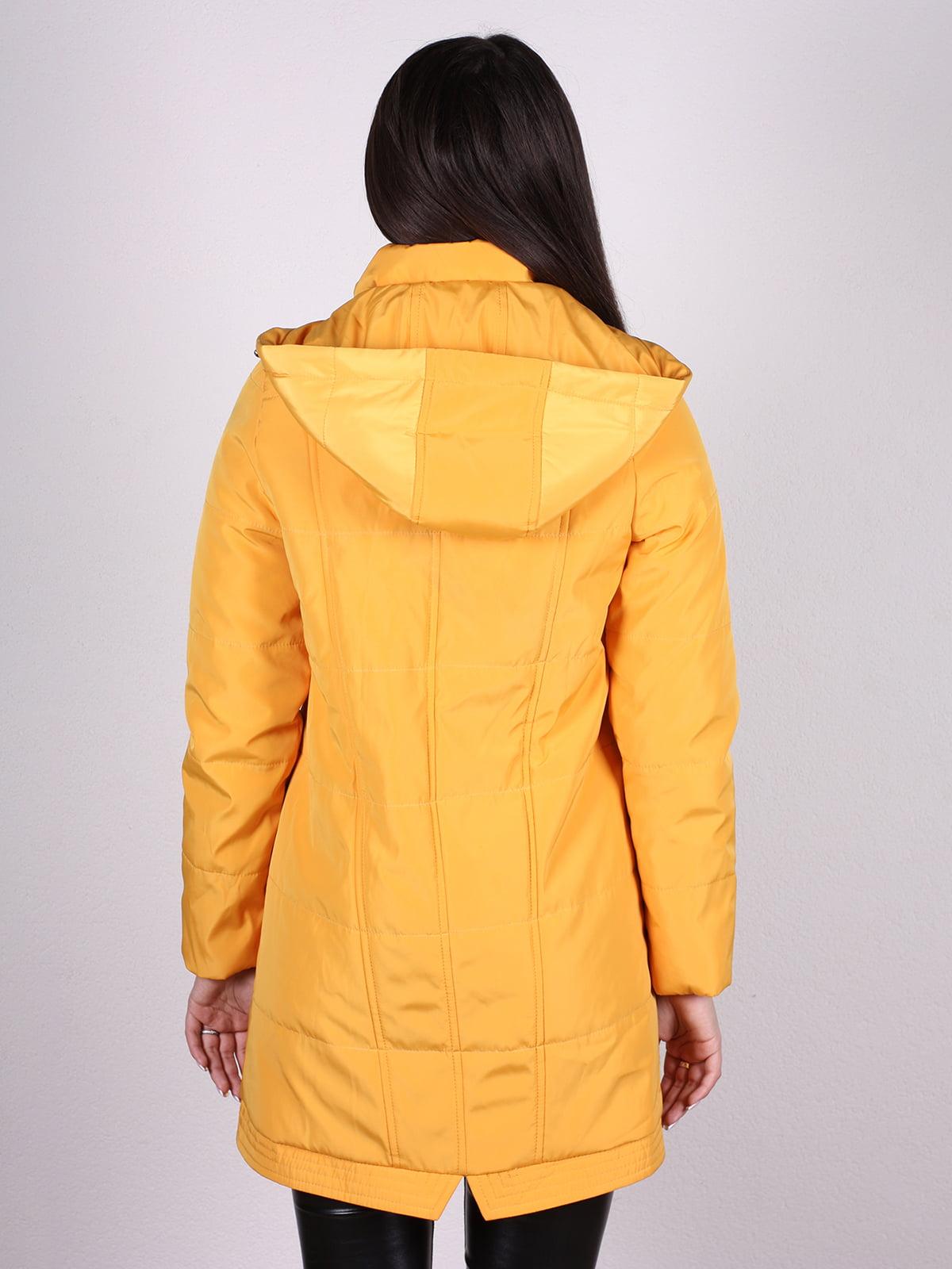 Пальто желтое | 4897433 | фото 3