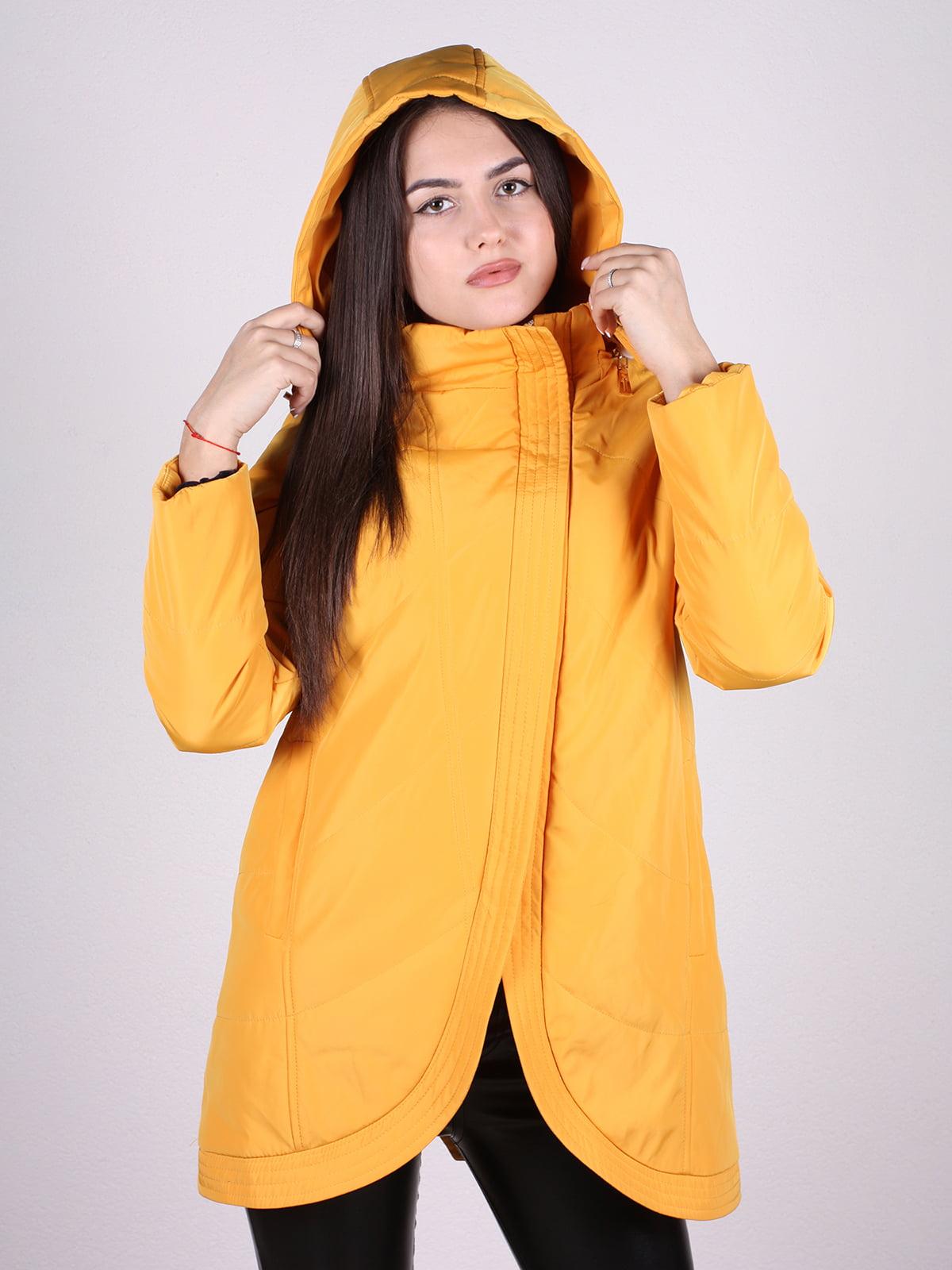 Пальто желтое | 4897433 | фото 4