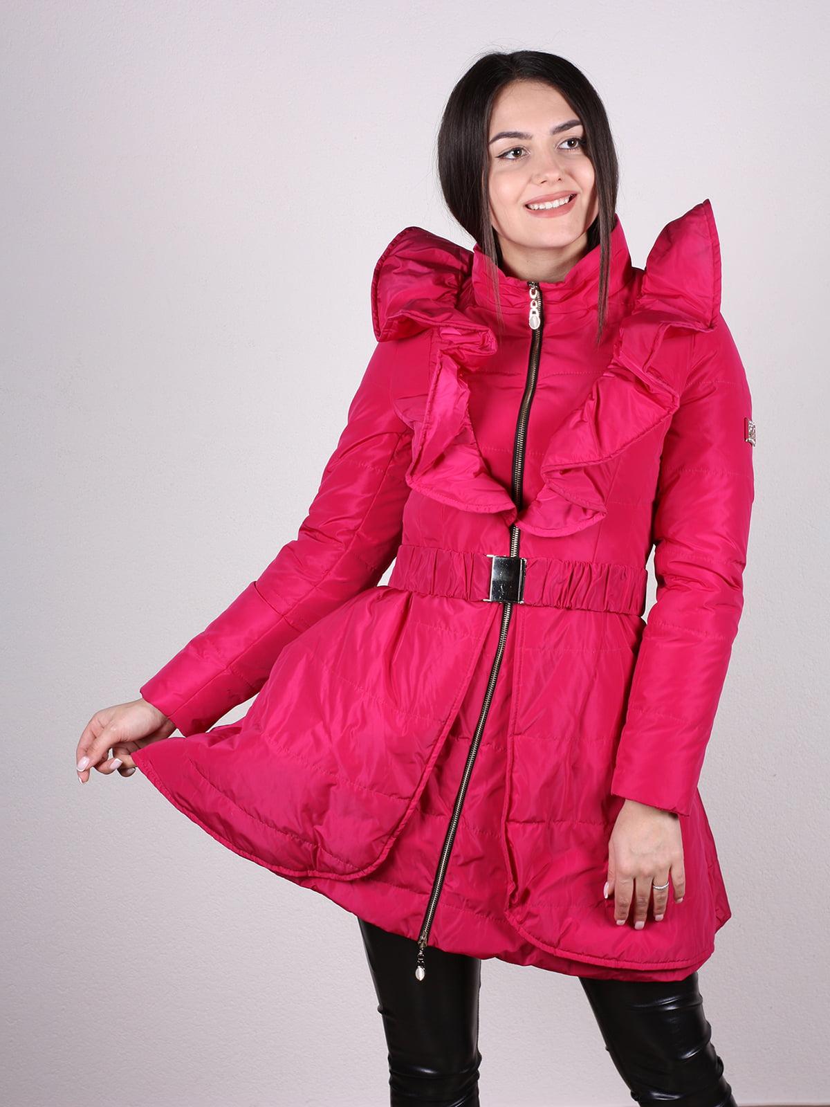 Пальто малиновое | 4897434
