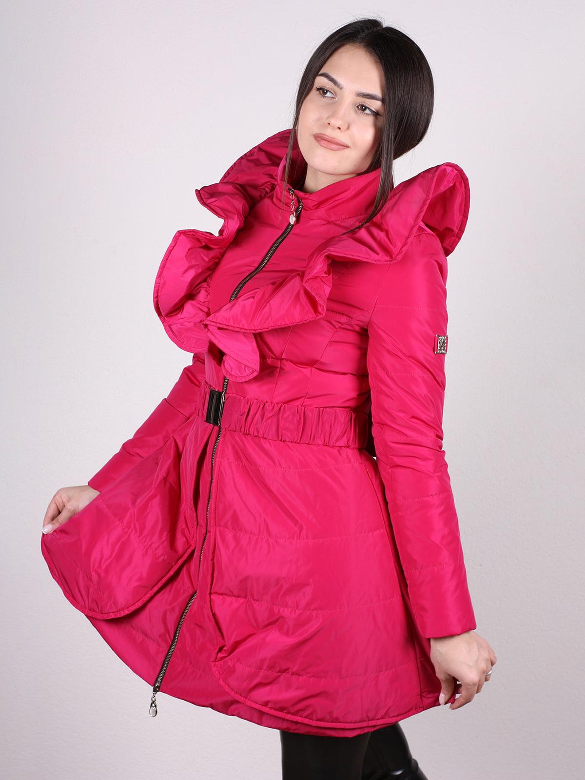 Пальто малиновое | 4897434 | фото 2