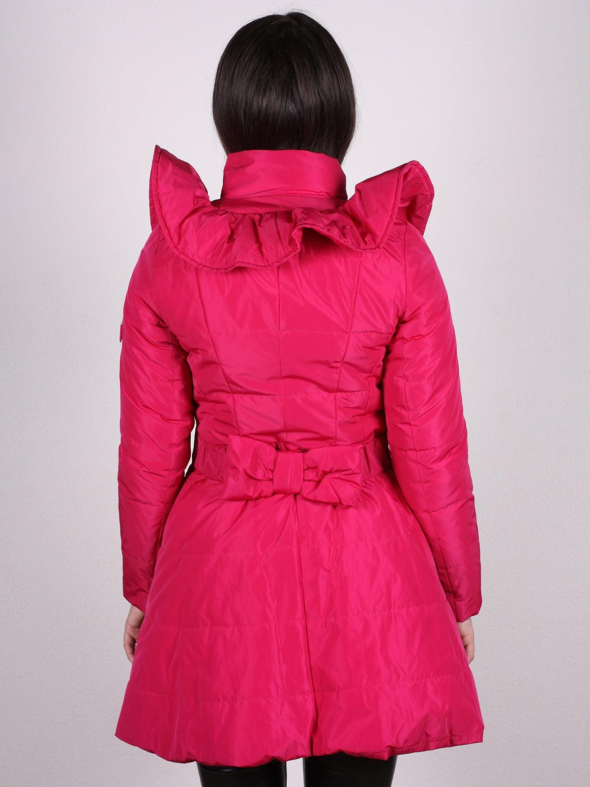 Пальто малиновое | 4897434 | фото 3