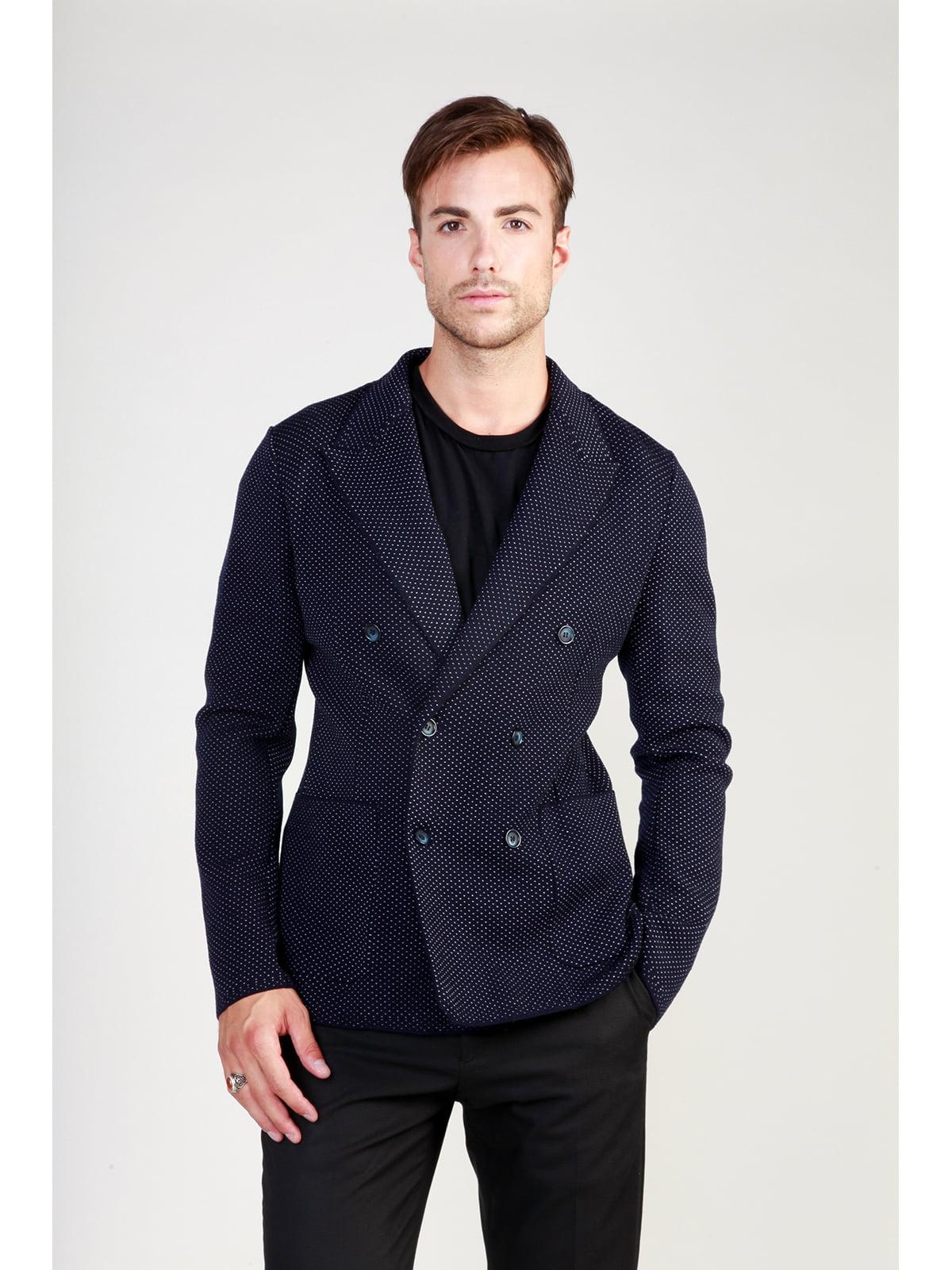Пиджак темно-синий в рисунок | 3748934 | фото 4