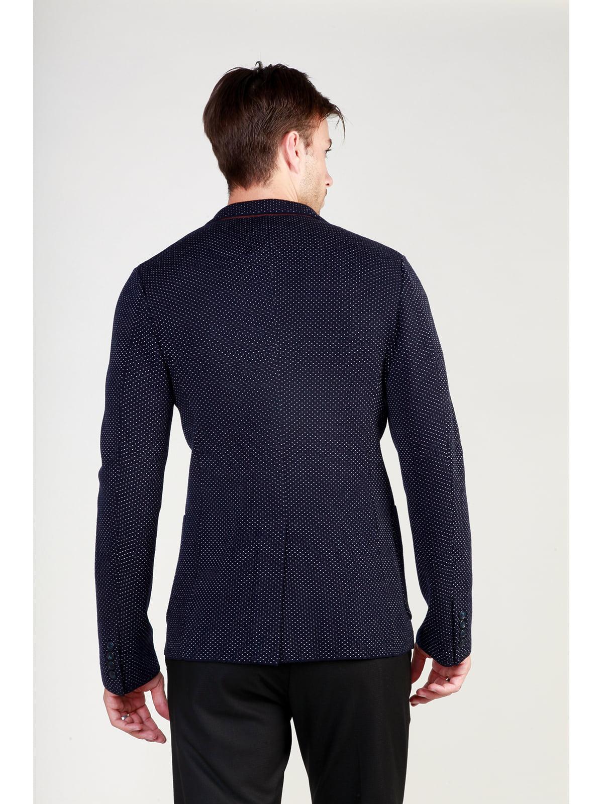 Пиджак темно-синий в рисунок | 3748934 | фото 5