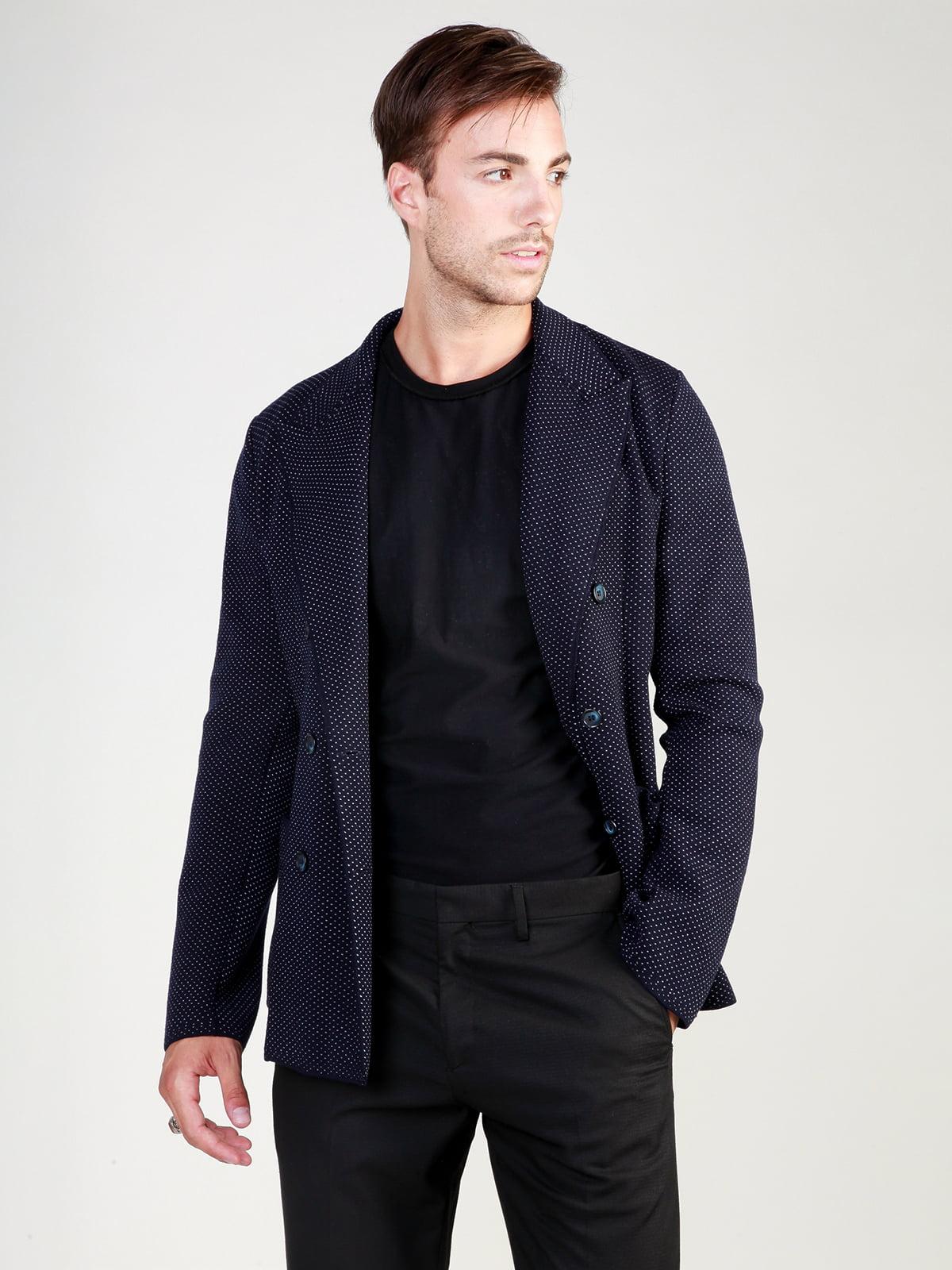Пиджак темно-синий в рисунок | 3748934 | фото 6