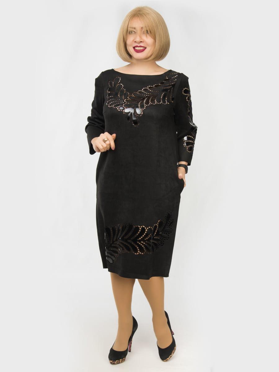 Сукня чорна з принтом | 4888861
