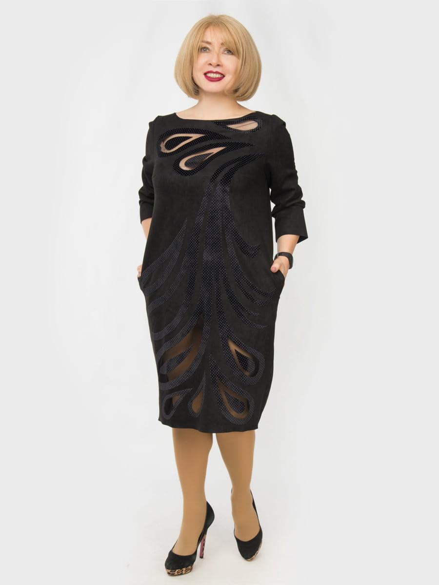 Сукня чорна з малюнком   4888884