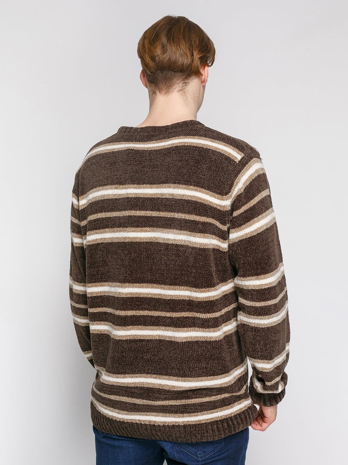 Джемпер сіро-коричневого кольору в смужку | 4855005 | фото 2