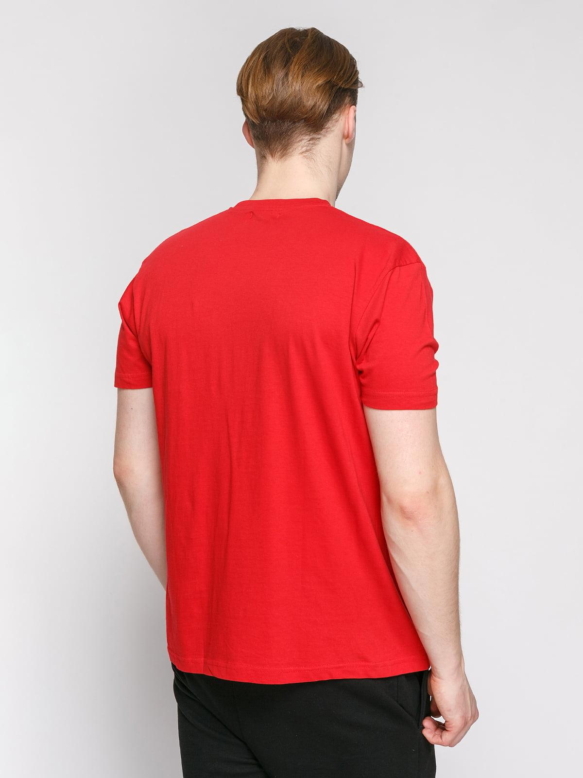 Футболка червона з принтом | 4854966 | фото 2