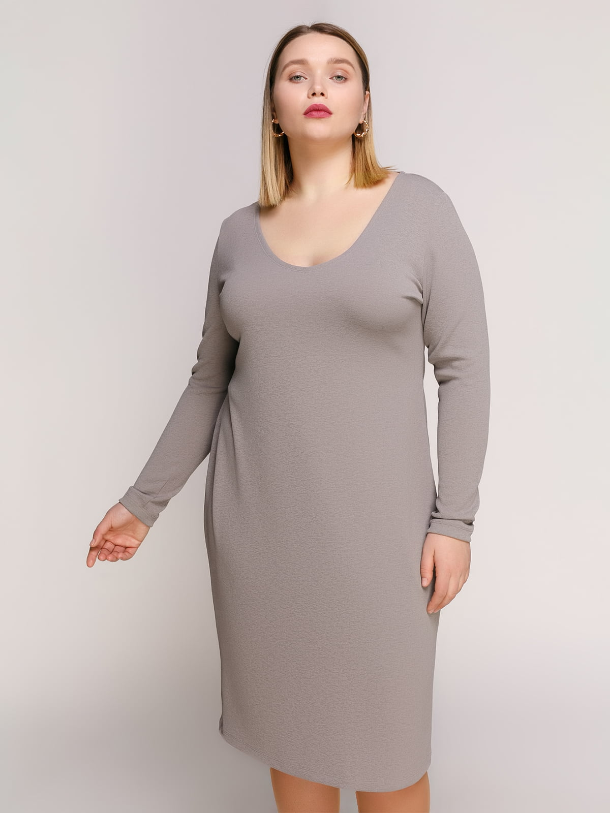 Платье серое | 4894195