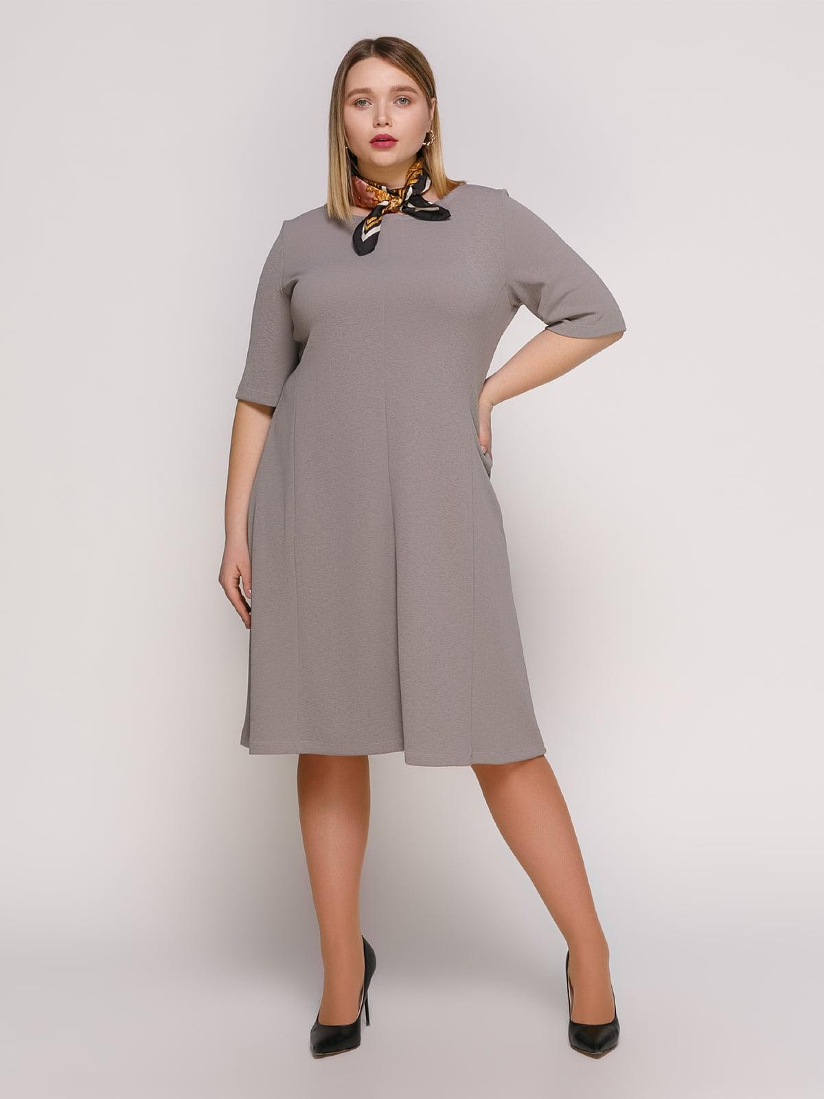 Платье серое   4894219