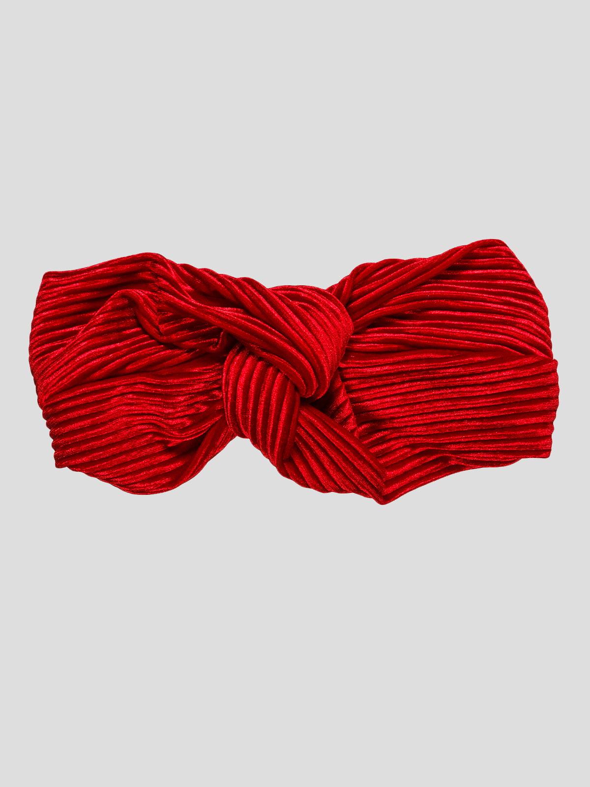 Пов'язка на голову червона | 4874578