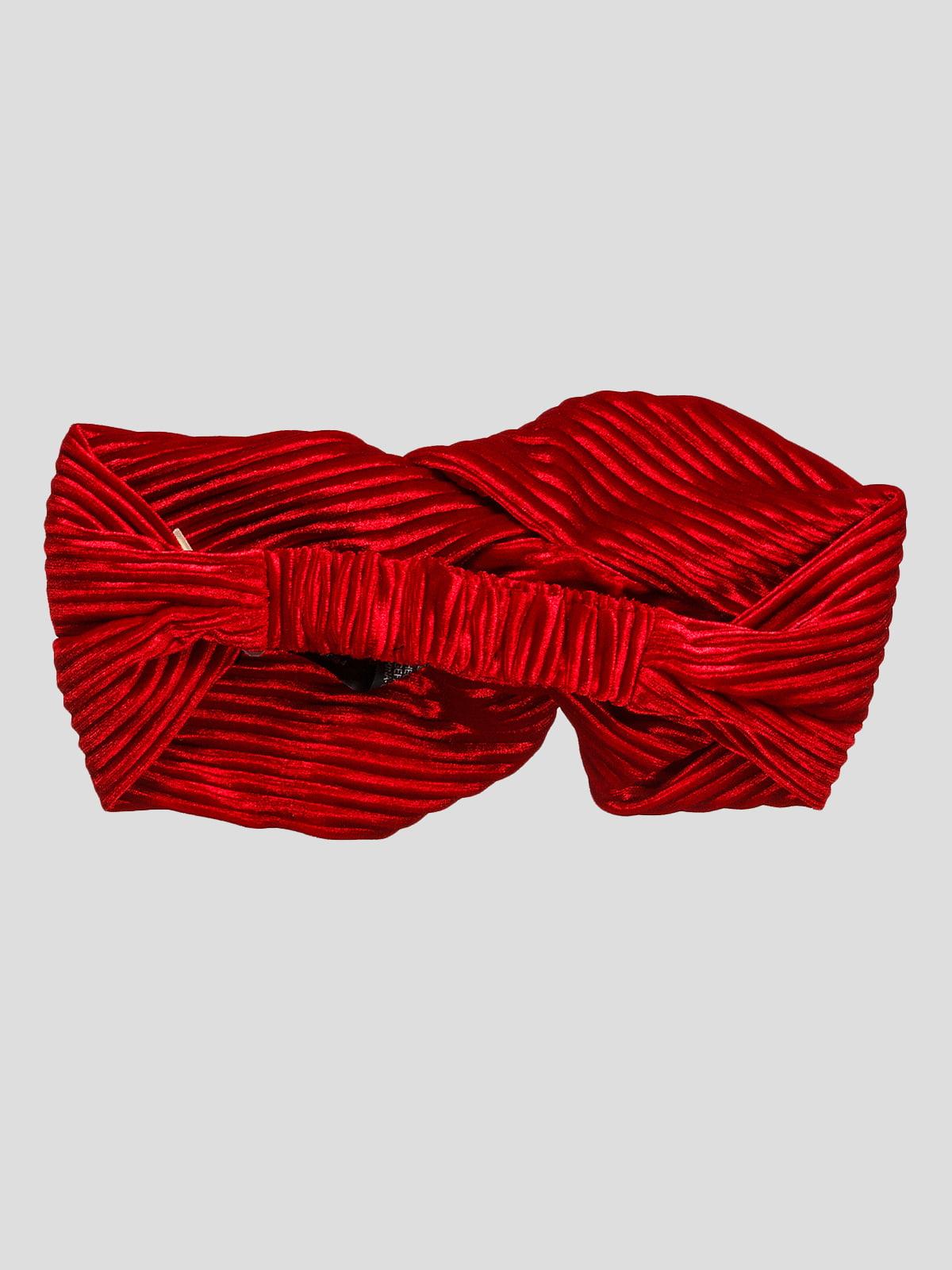 Пов'язка на голову червона | 4874578 | фото 2