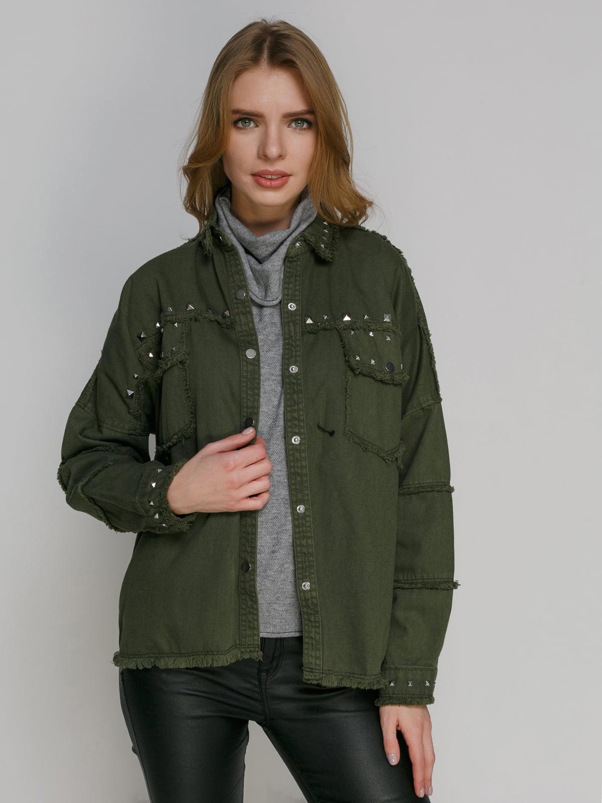 Куртка кольору хакі   4877704