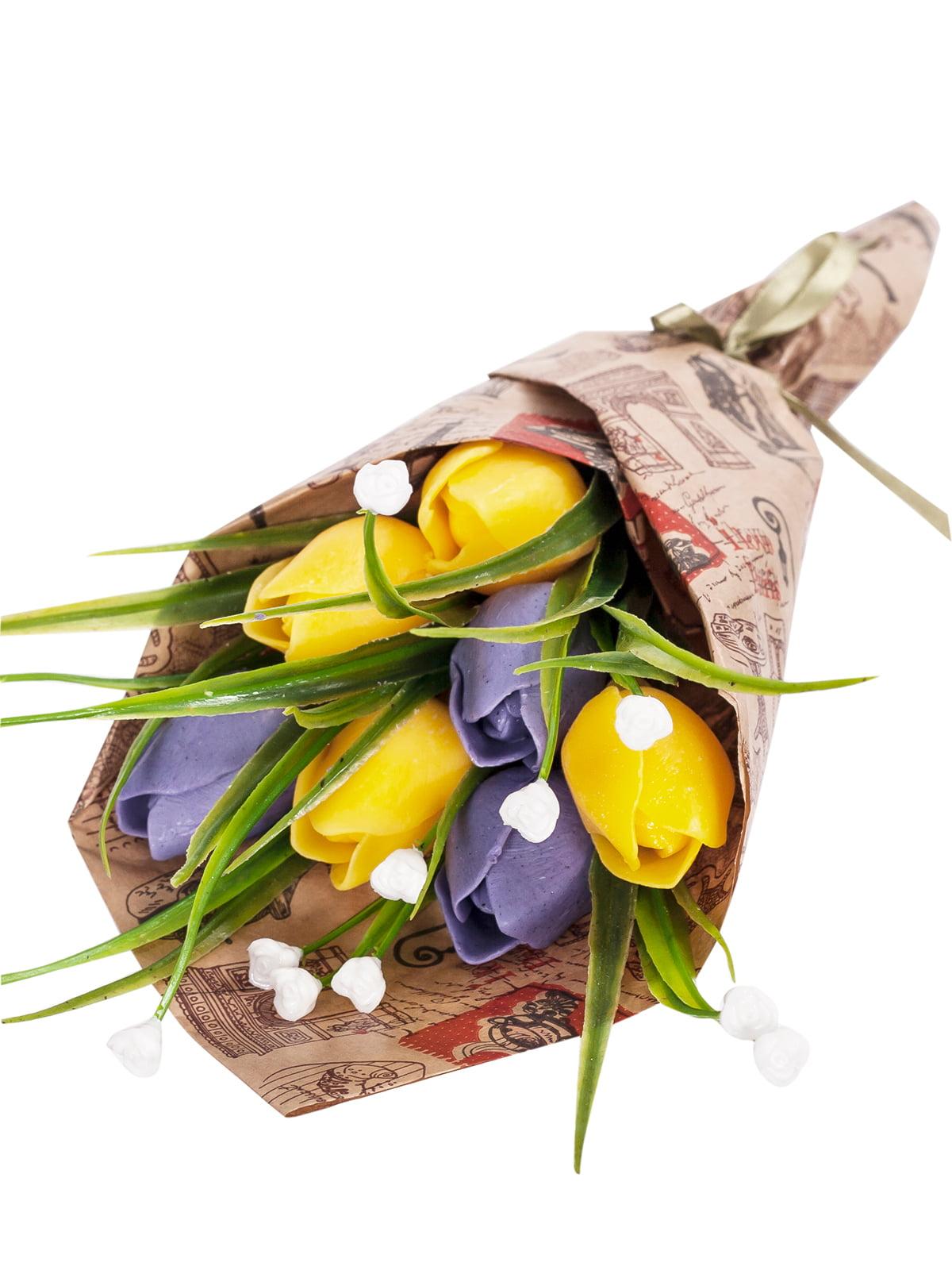 Букет з мила «Жовті тюльпани» | 4897848