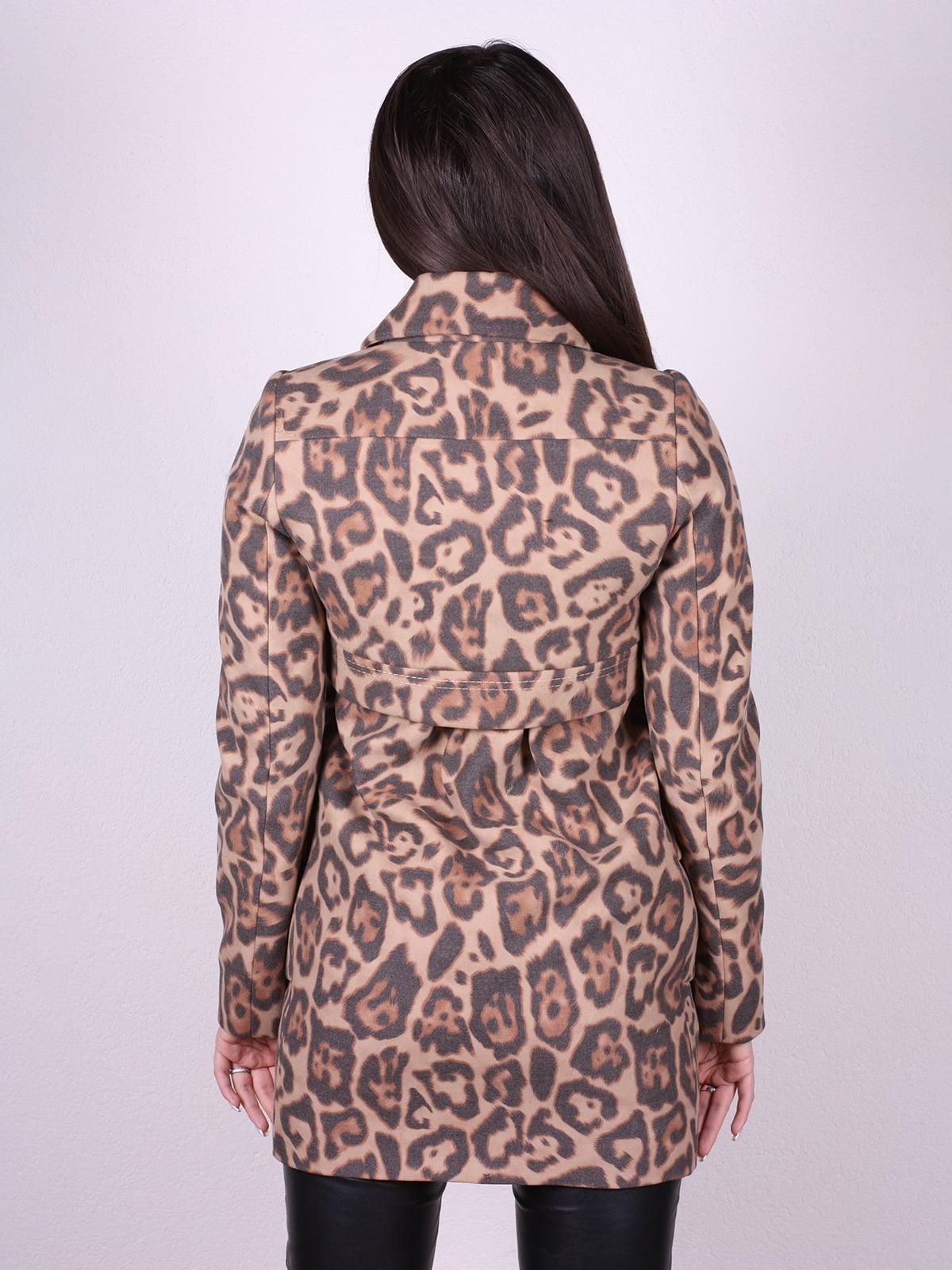 Пальто анималистической расцветки | 4902372 | фото 3