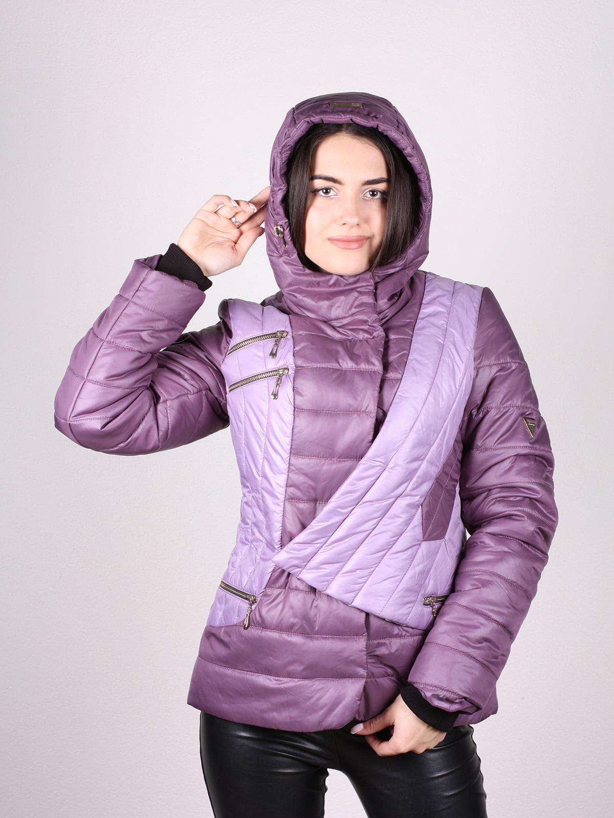 Куртка сиреневая   4902377   фото 4
