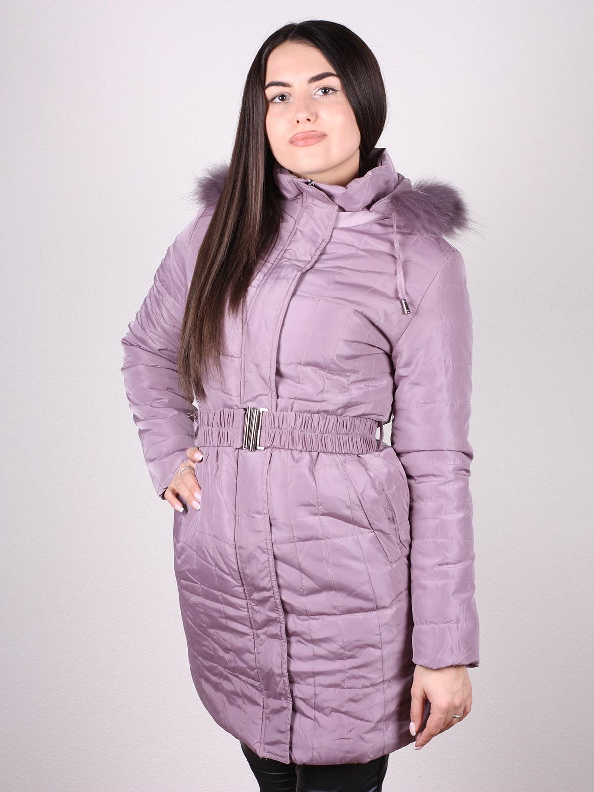 Пальто сиреневое | 4902382 | фото 2