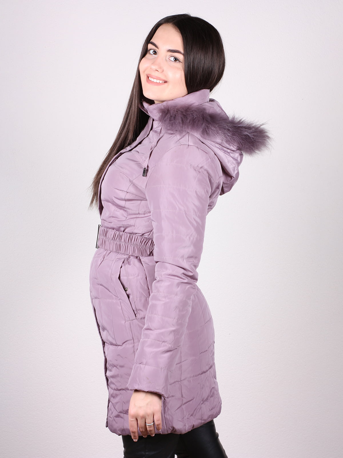 Пальто сиреневое | 4902382 | фото 3