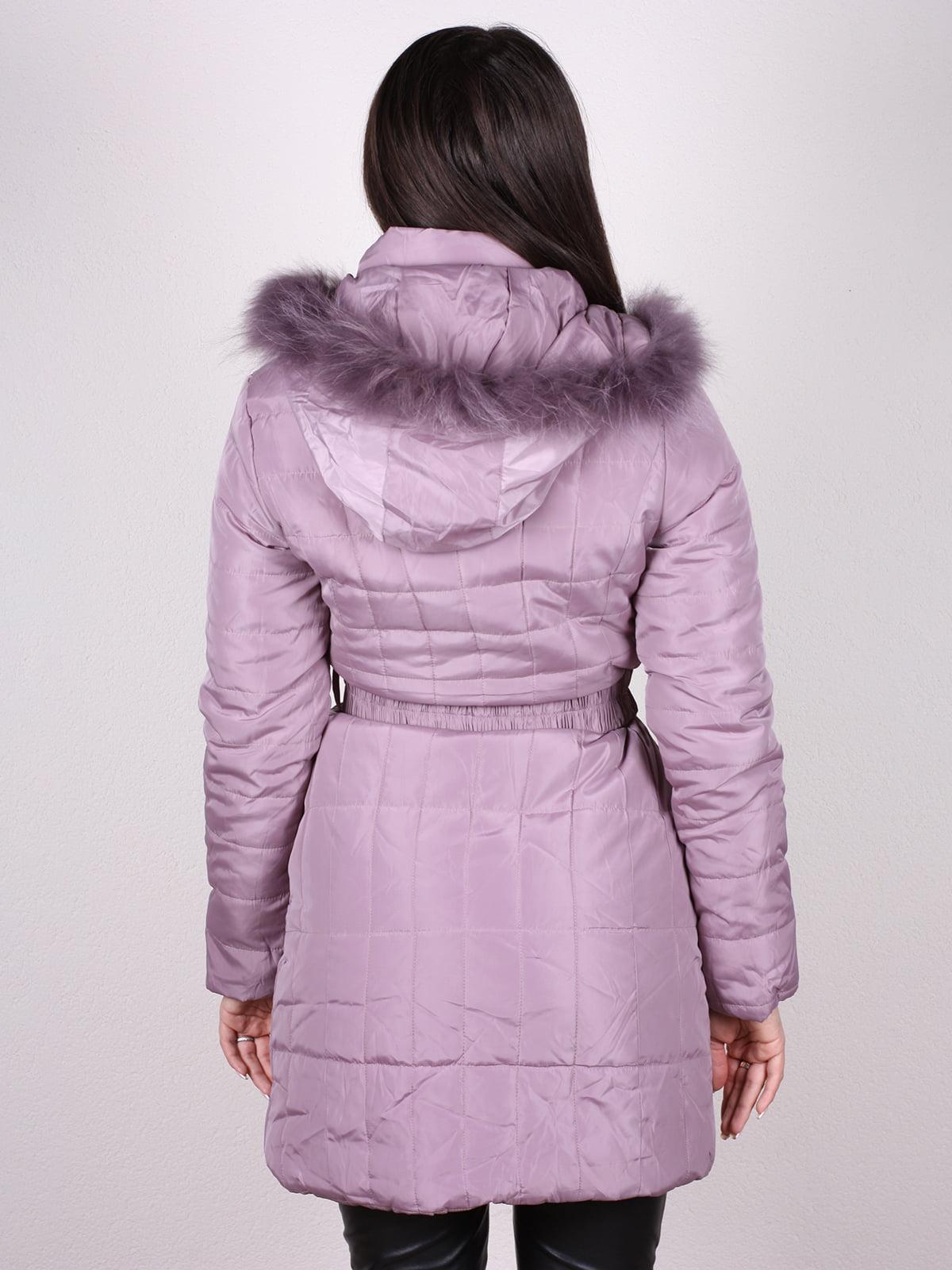 Пальто сиреневое | 4902382 | фото 4