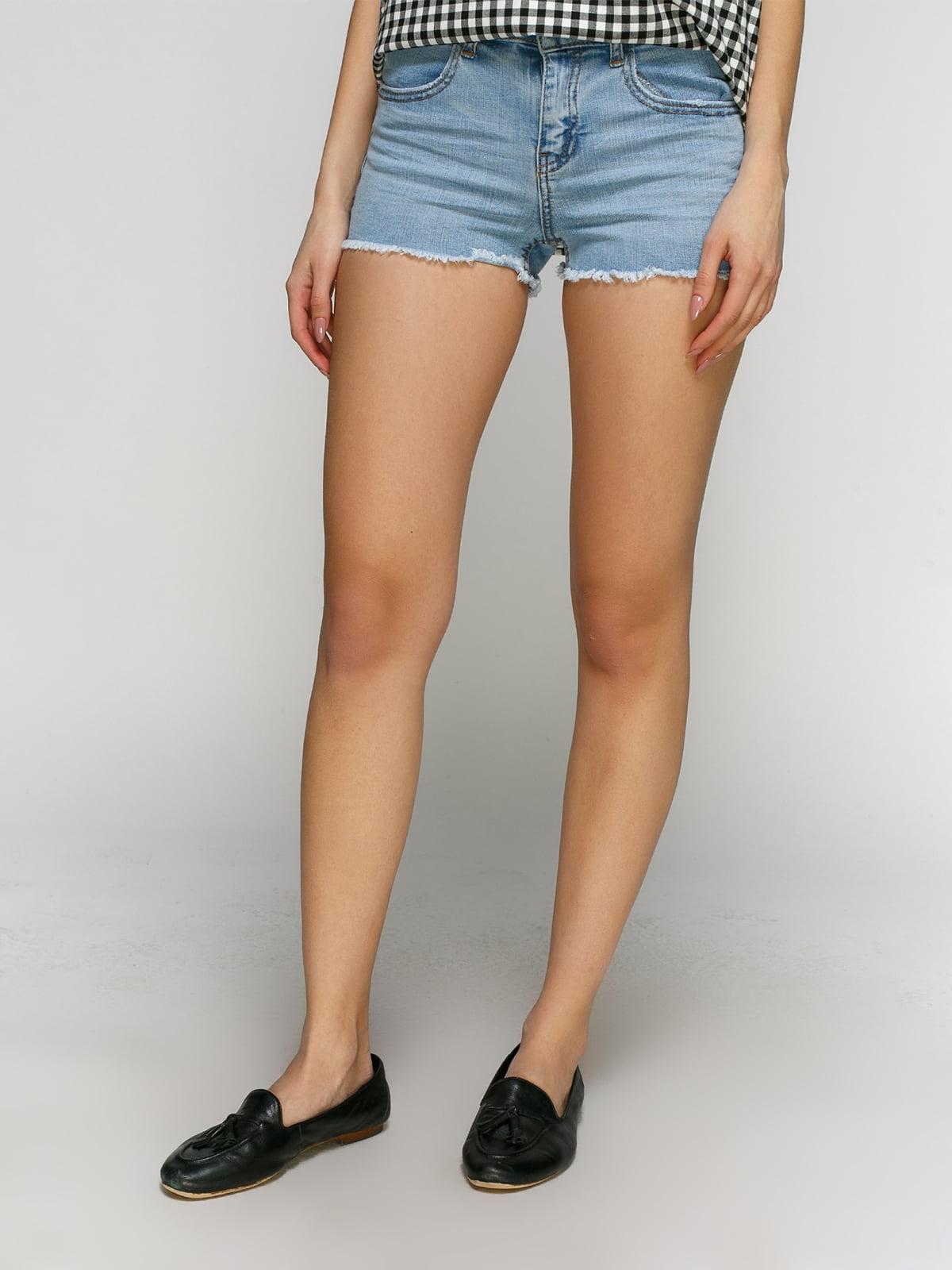 Шорты голубые джинсовые | 4871032