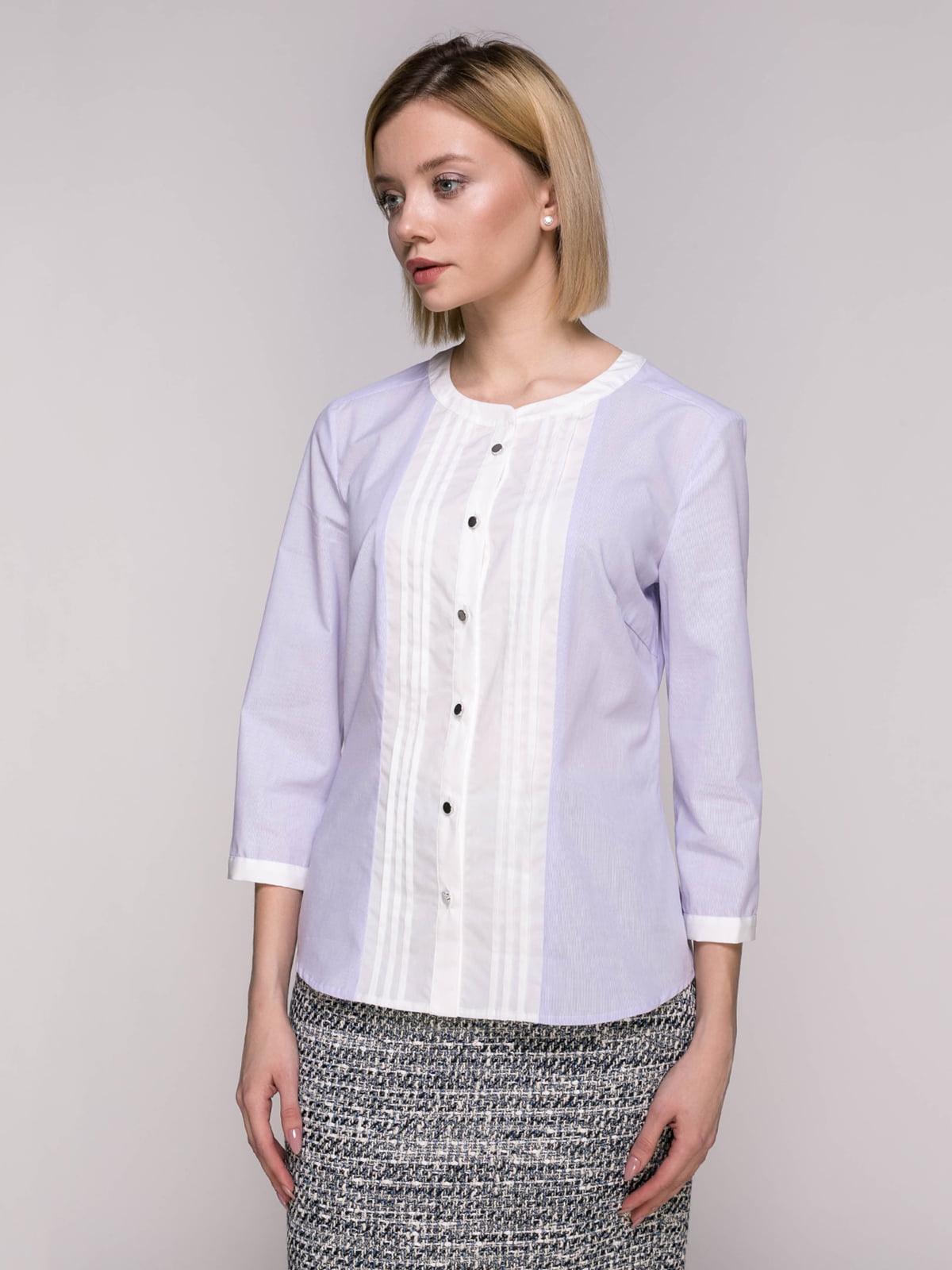 Блуза лавандового кольору в смужку   4896451