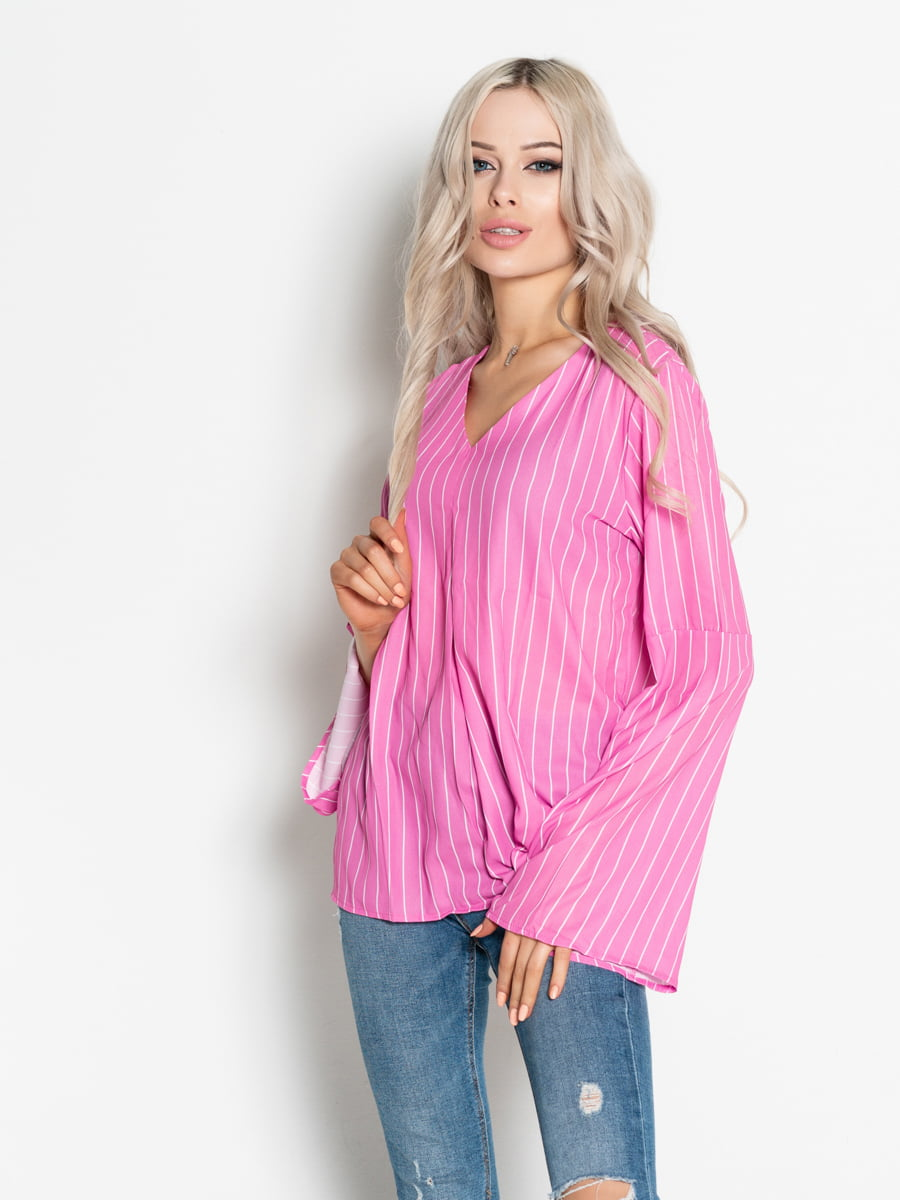 Блуза рожева в смужку   4903829