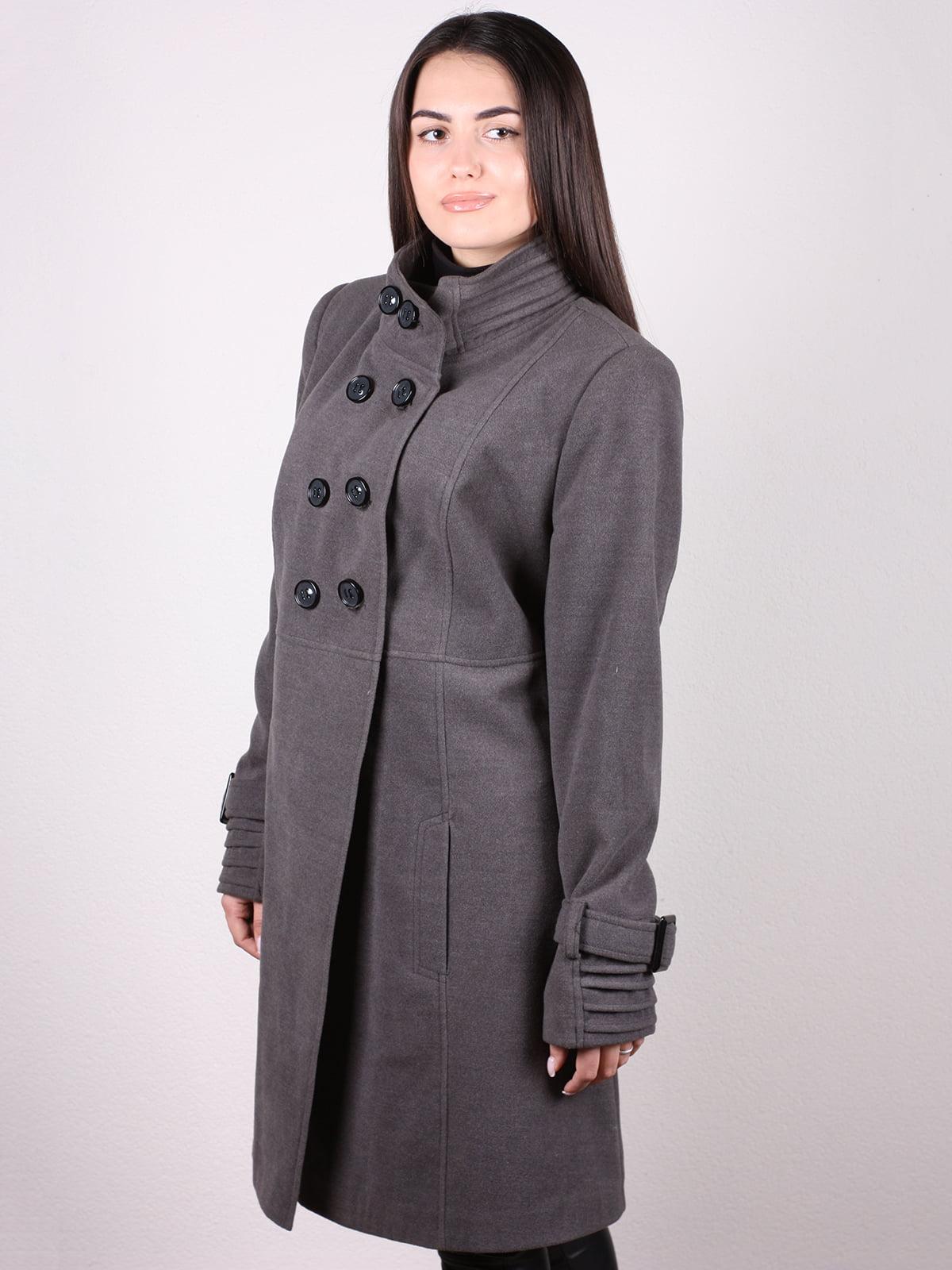 Пальто серое | 4903728 | фото 2