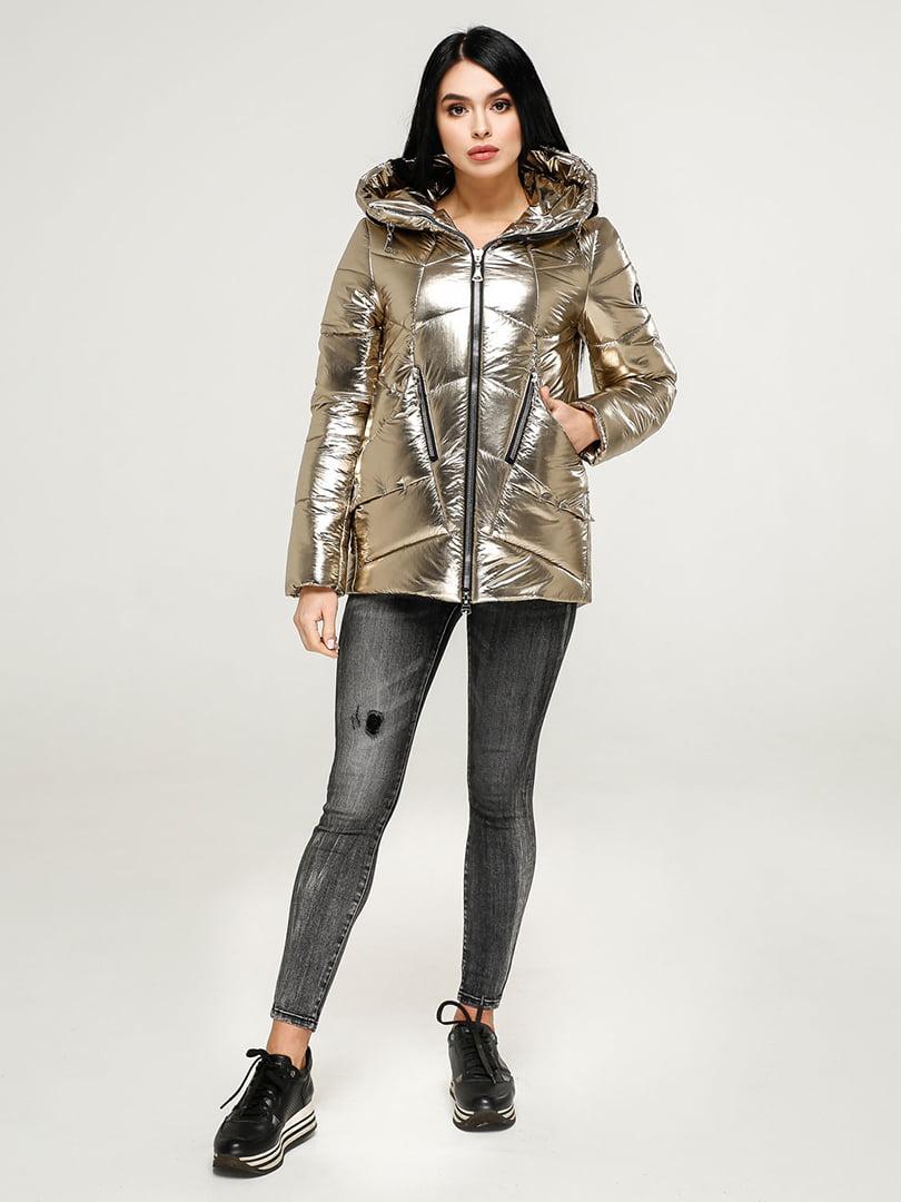 Куртка золотистого цвета | 4904586