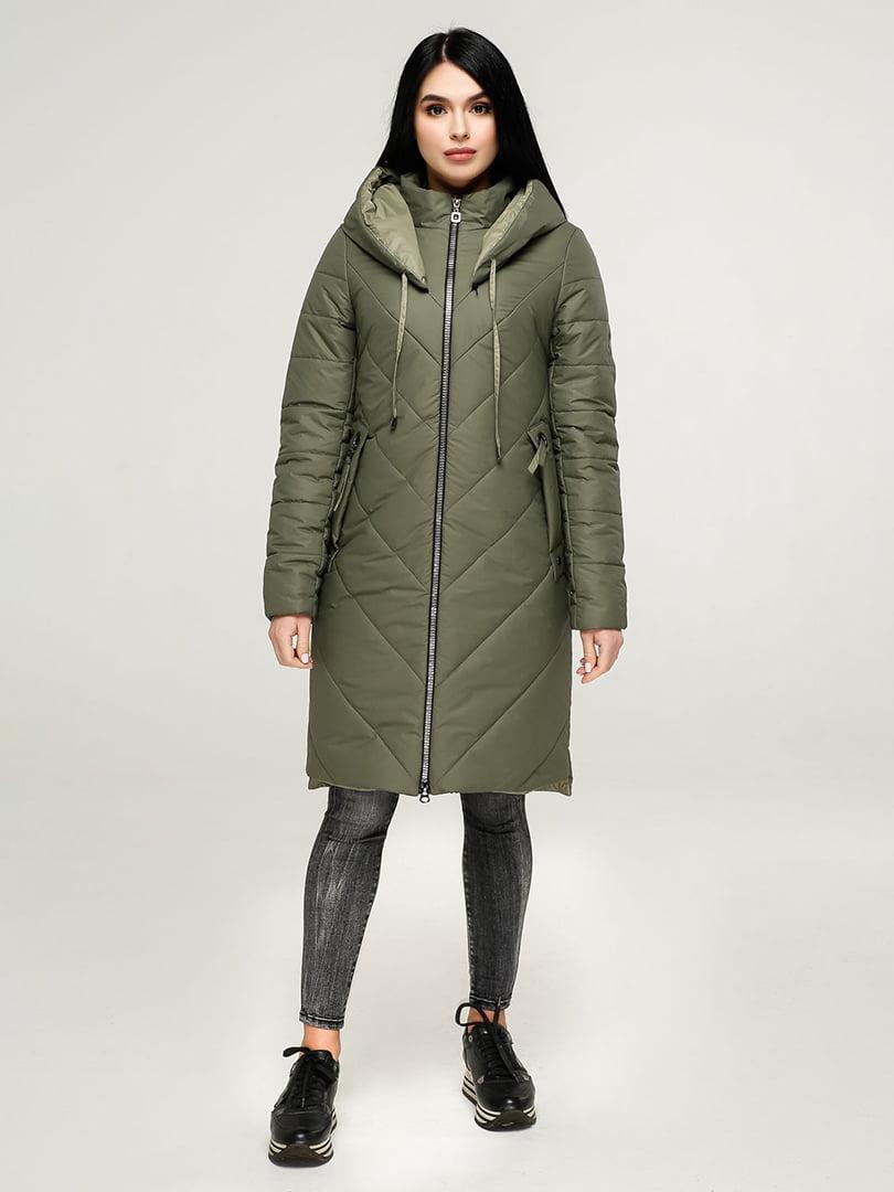 Пальто кольору хакі | 4904611