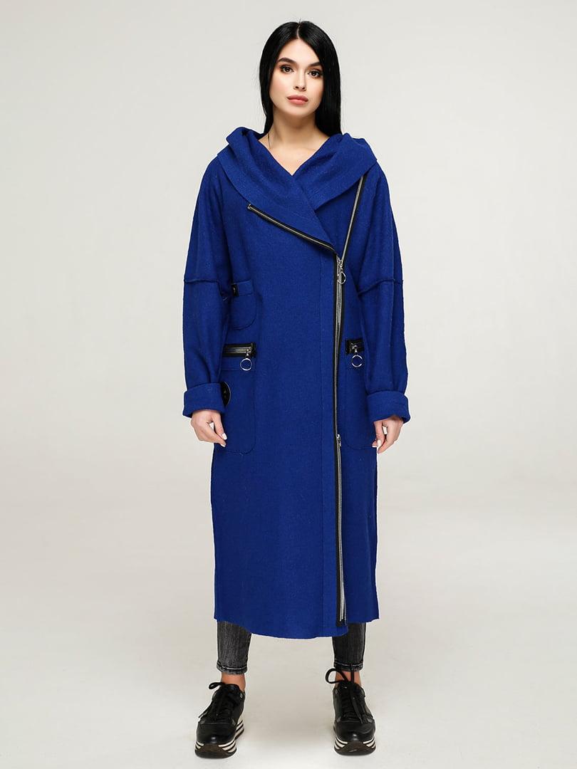 Пальто кольору електрик | 4904618